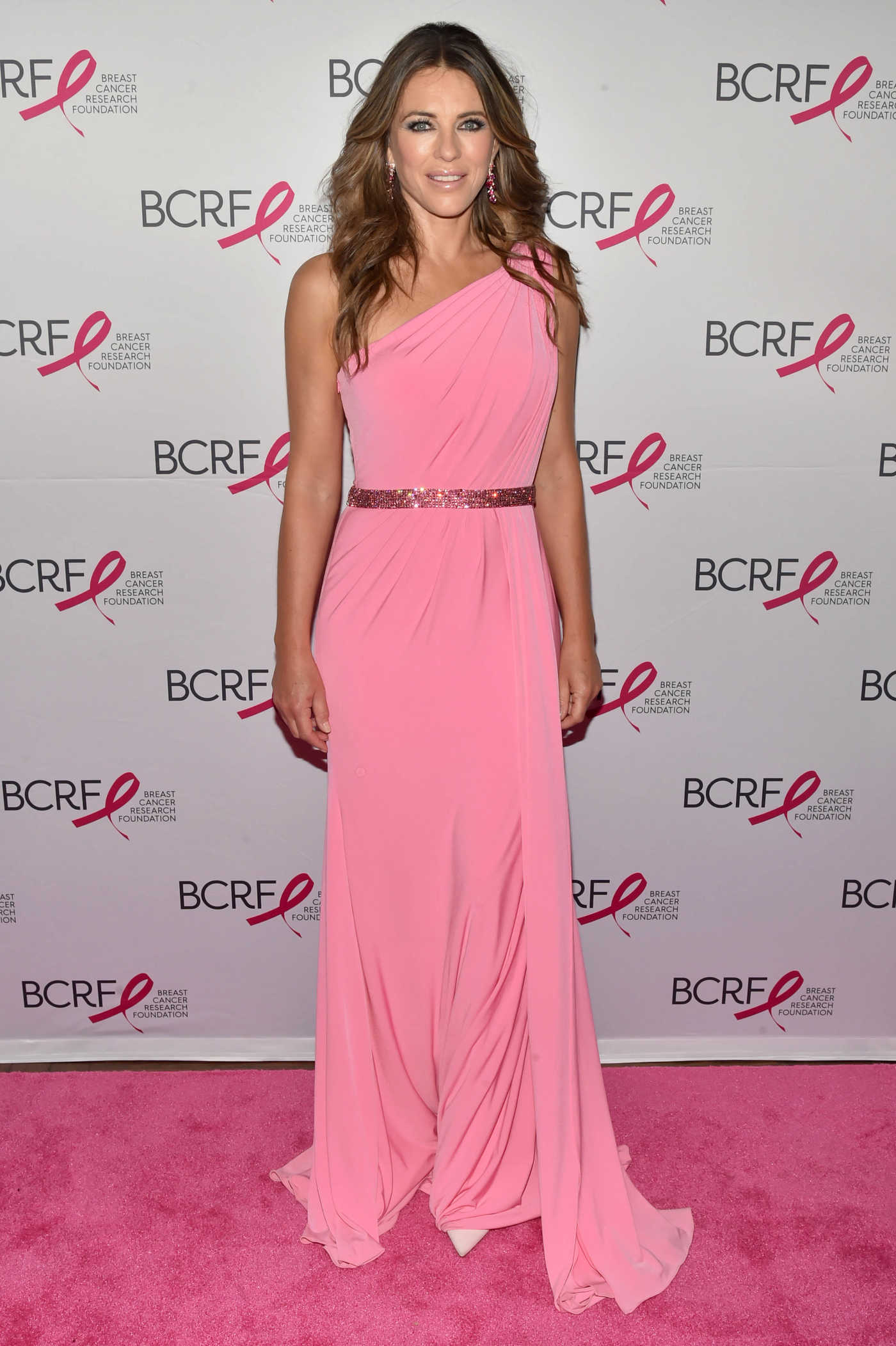 Elizabeth Hurley at the Breast Cancer Research Foundation's Annual Hot Pink Party in New York 05/12/2017
