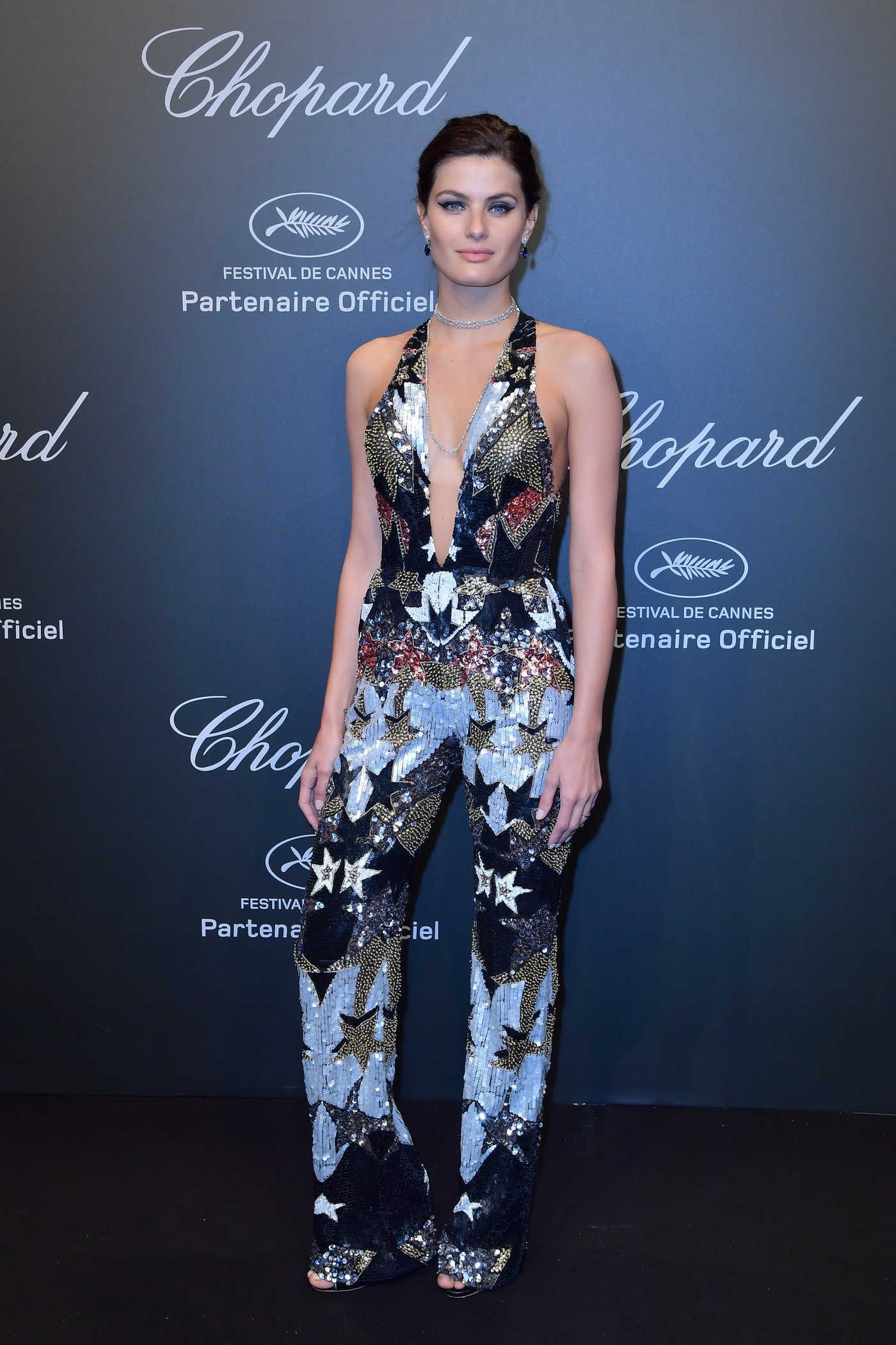 Isabeli Fontana at Chopard Space Party in Cannes During the 70th Cannes Film Festival 05/19/2017