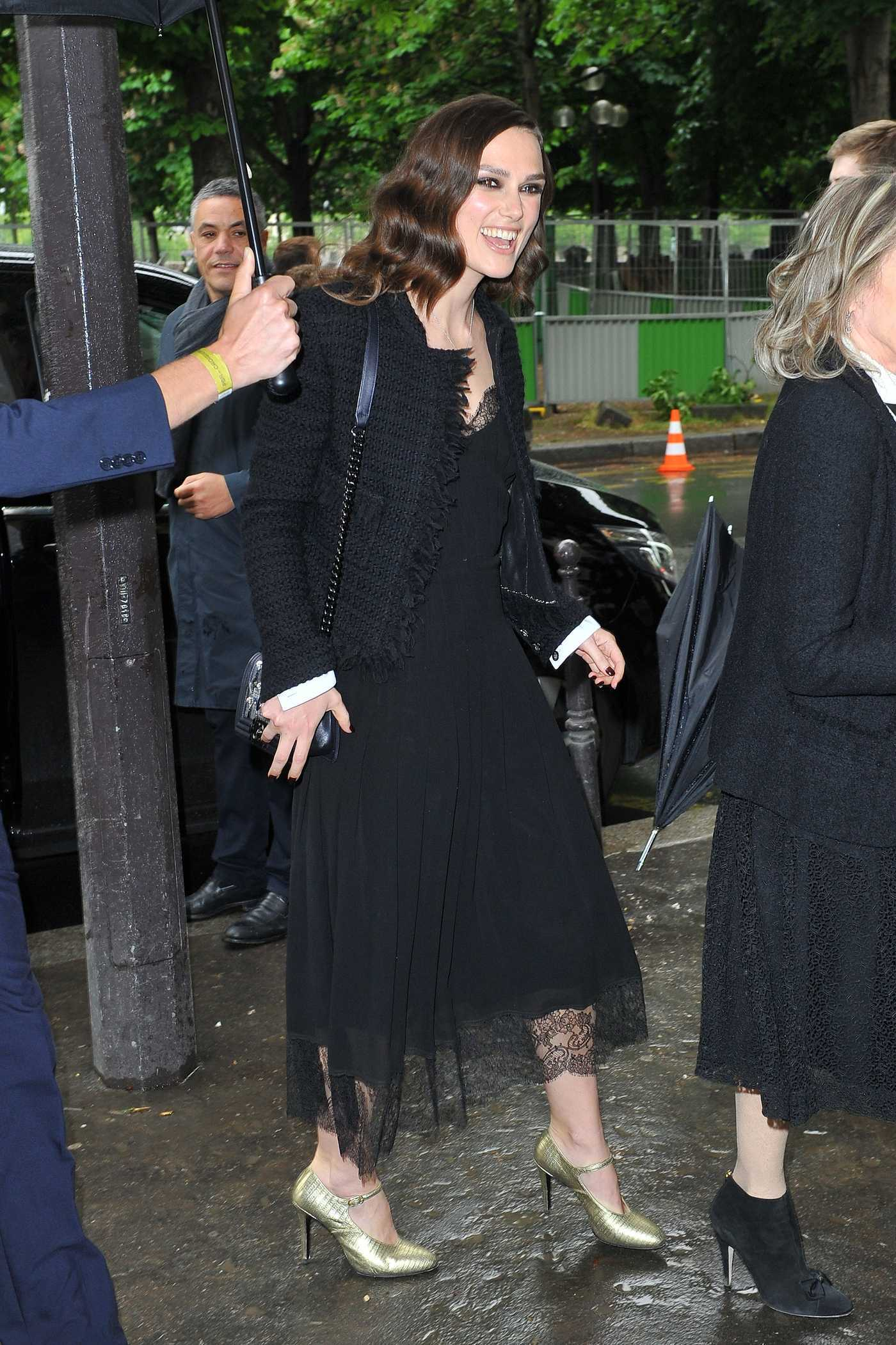 Keira Knightley Arrives at Grand Palais in Paris 05/03/2017