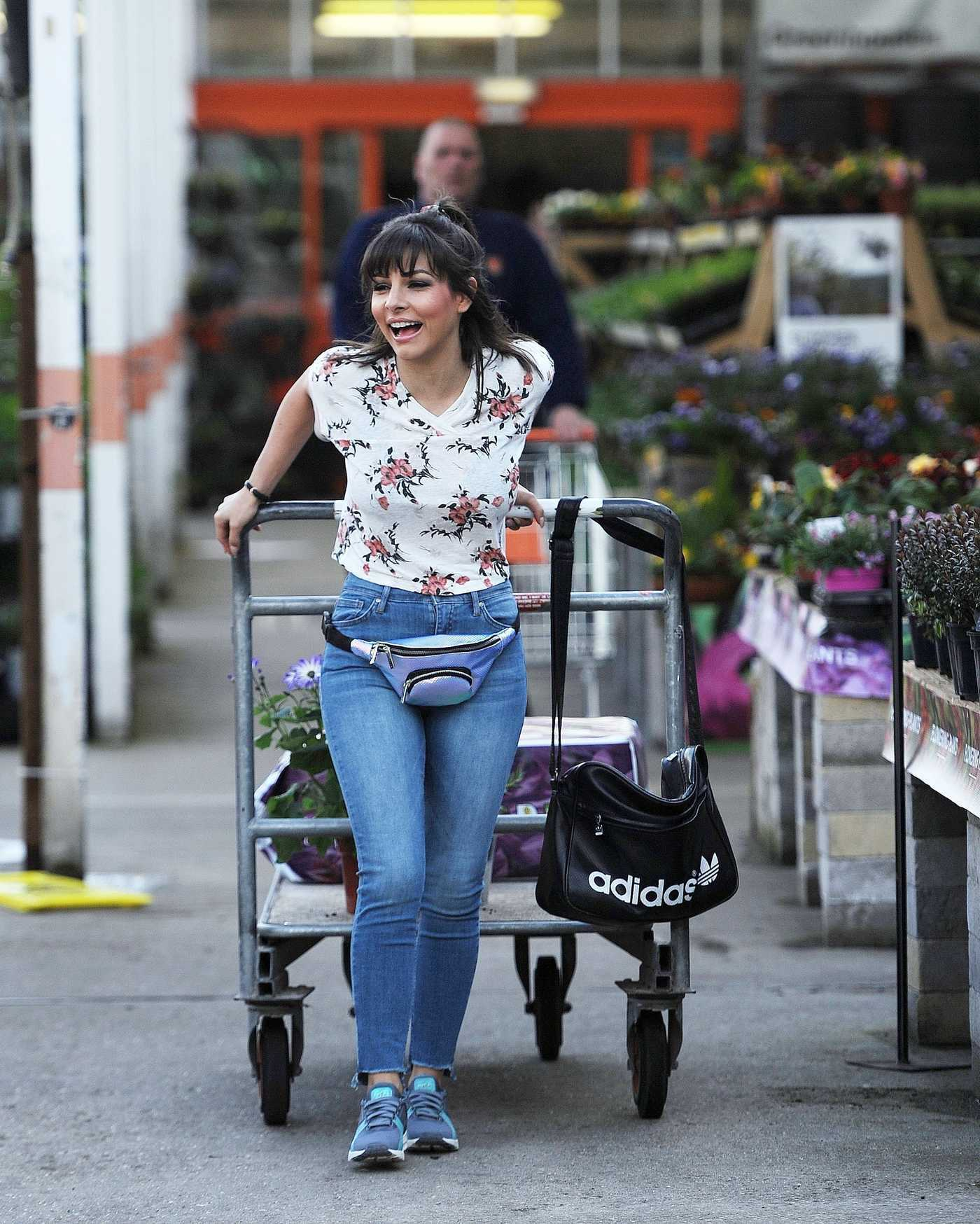 Roxanne Pallett Goes Shopping at the Garden Centre in Manchester 05/26/2017