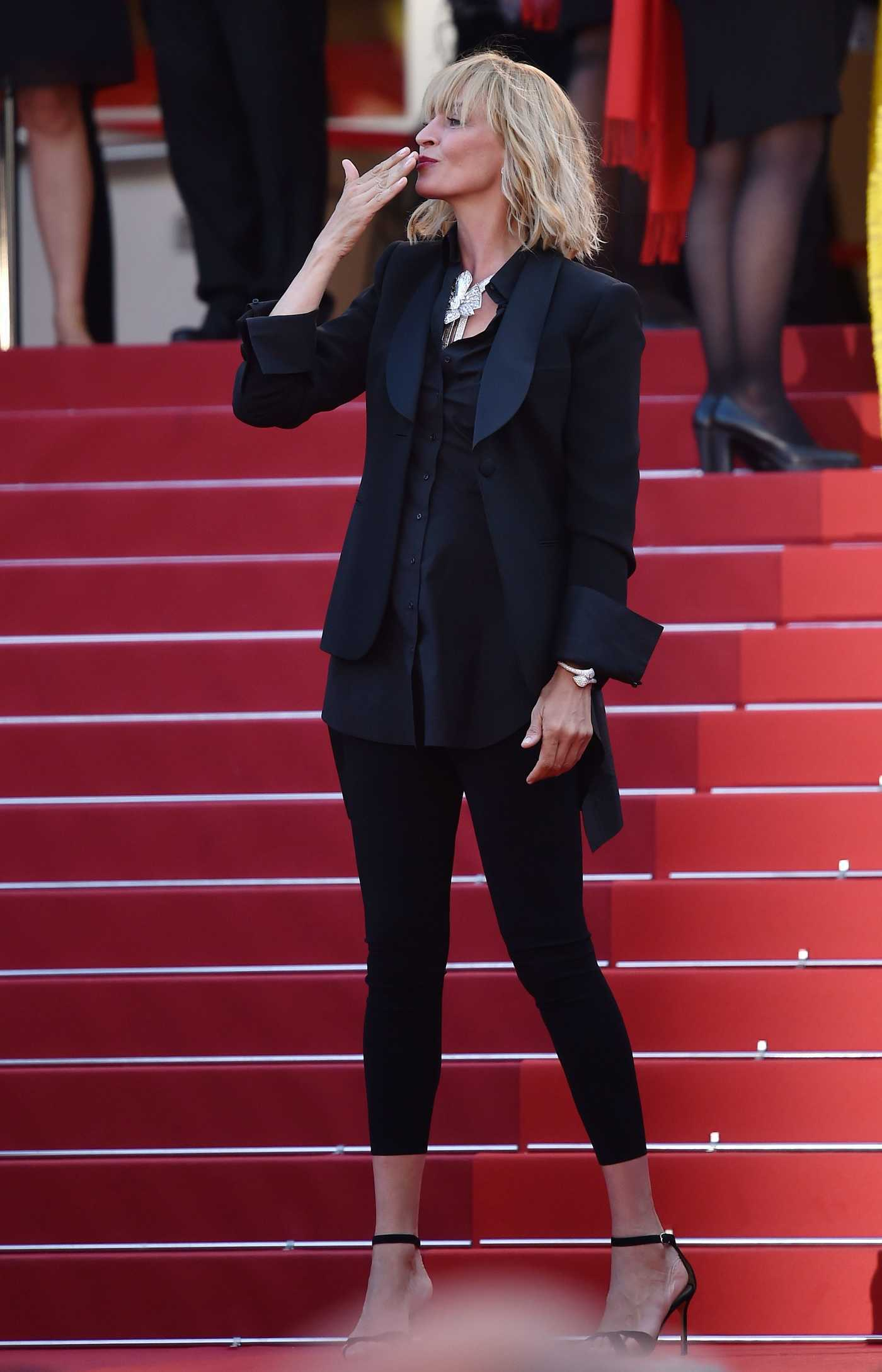 Uma Thurman at the Based on a True Story Premiere During the 70th Annual Cannes Film Festival 05/27/2017