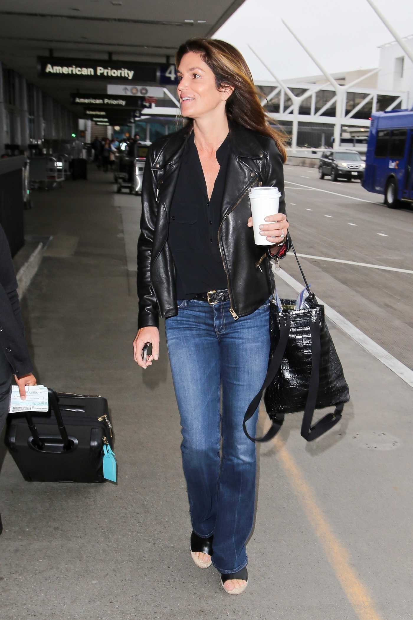 Cindy Crawford at the LAX Airport in Los Angeles 05/30/2017