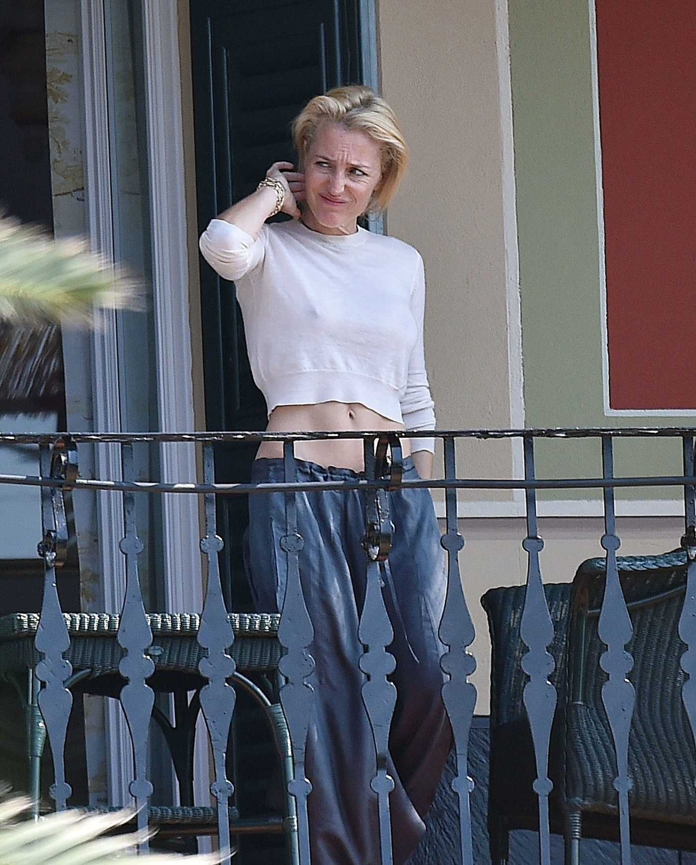 Gillian Anderson Was Seen at Her Hotel in Portofino 06/25/2017