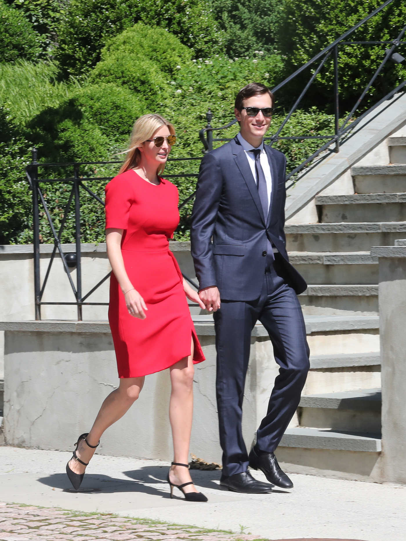 Ivanka Trump and Jared Kushner Head to Synagogue in Washington 06/01/2017