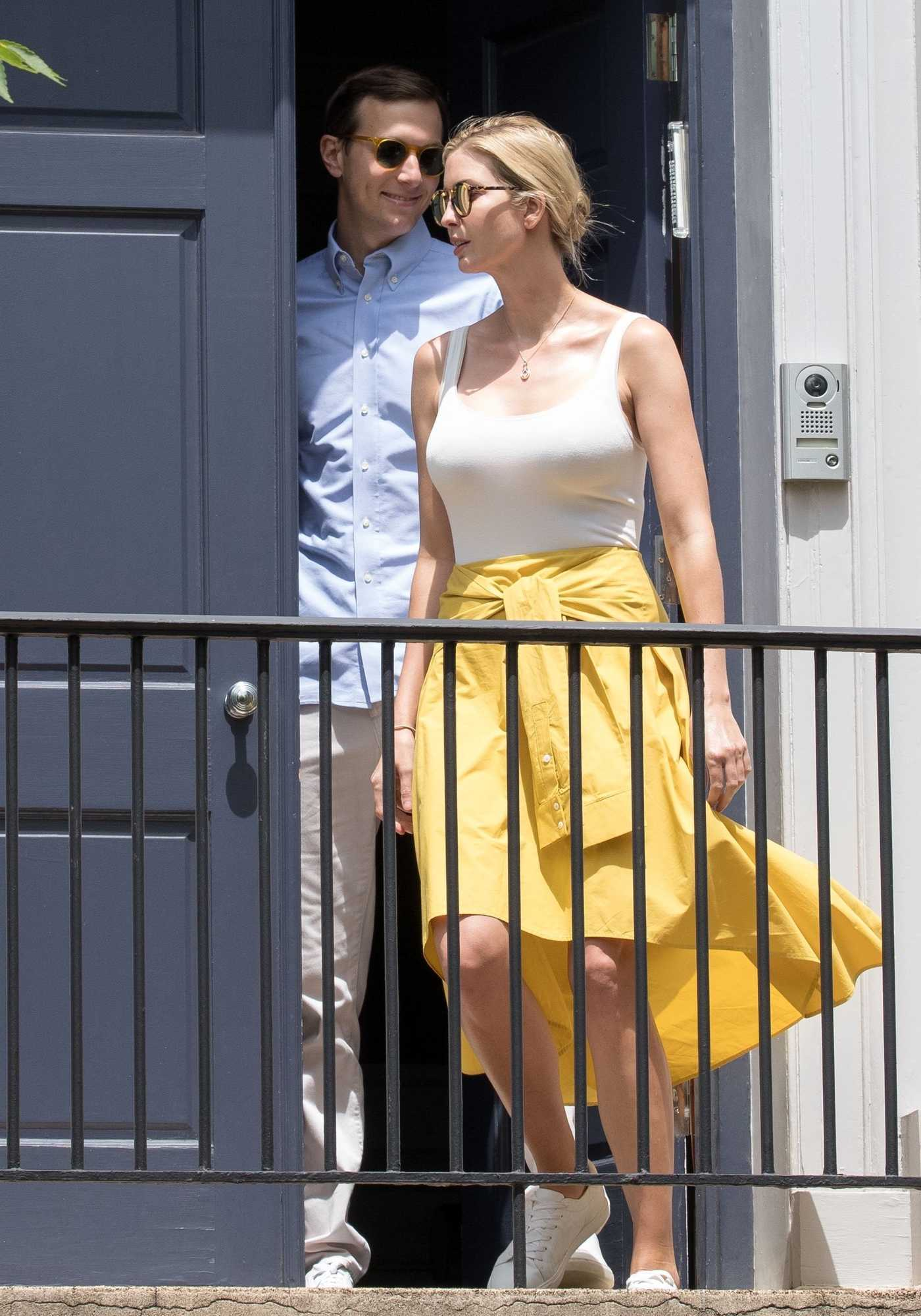 Ivanka Trump and Jared Kushner Leave Their House in Washington 06/24/2017