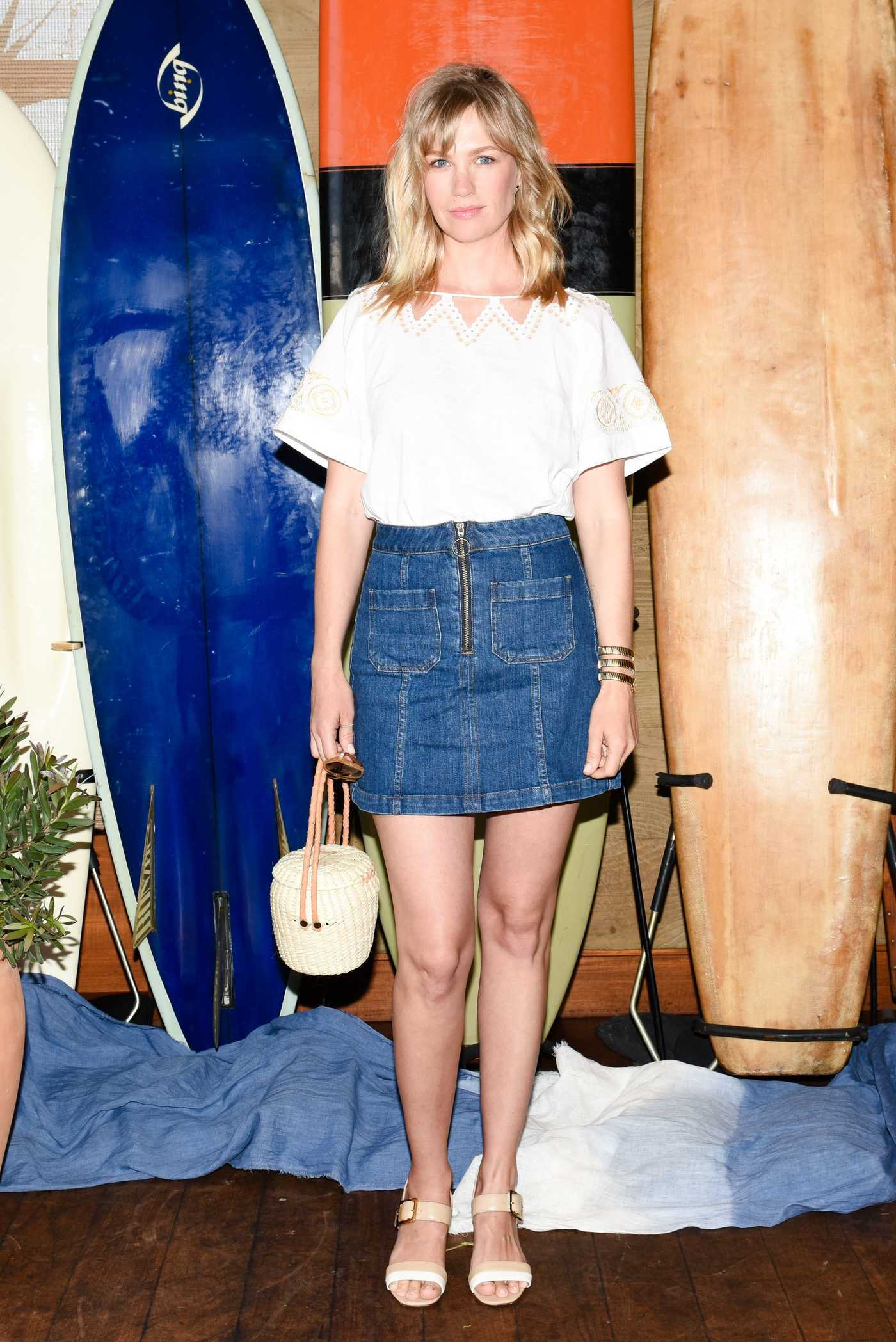 January Jones at the Madewell and the Surfrider Foundation Collaboration Launch Event in Malibu 06/09/2017