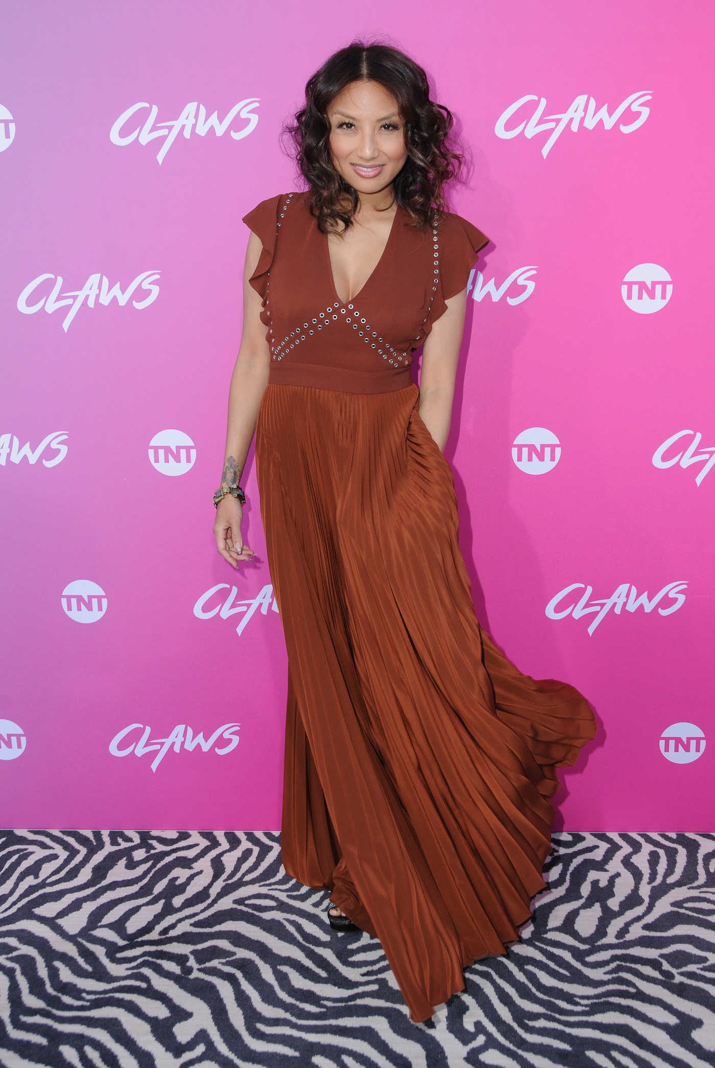 Jeannie Mai at the Claws Premiere in Hollywood 01/06/2017