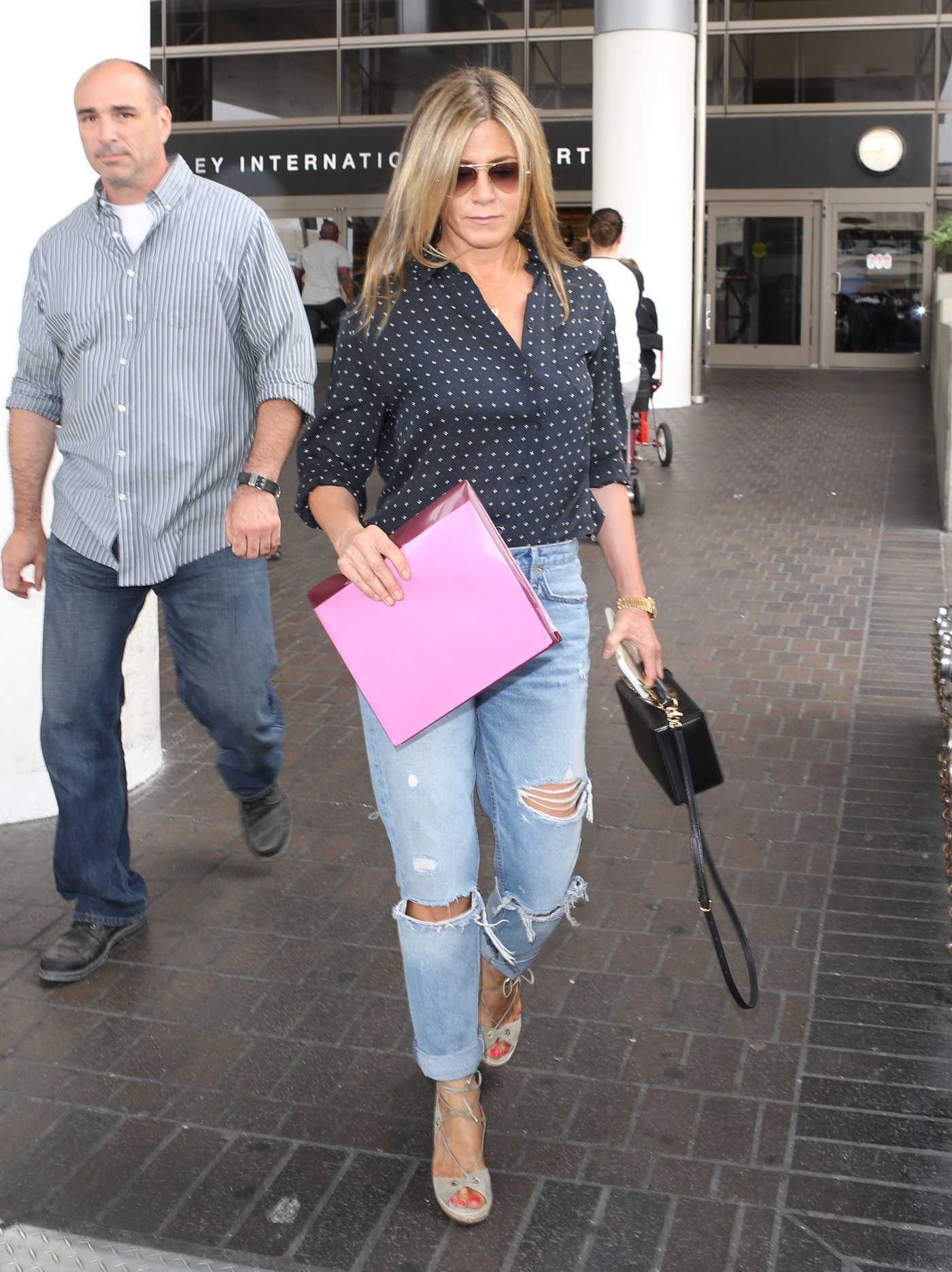 Jennifer Aniston Was Seen at LAX Airport in Los Angeles 06/23/2017