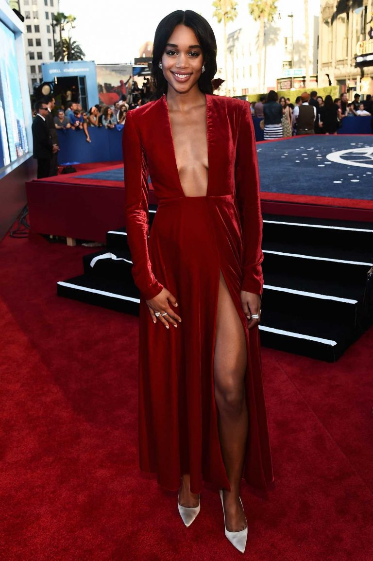 Laura Harrier at the Spider-Man: Homecoming Premiere in Hollywood 06/28/2017-1
