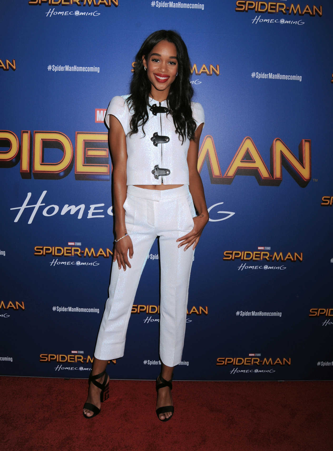 Laura Harrier at the Spider-Man: Homecoming Screening in New York 06/26/2017