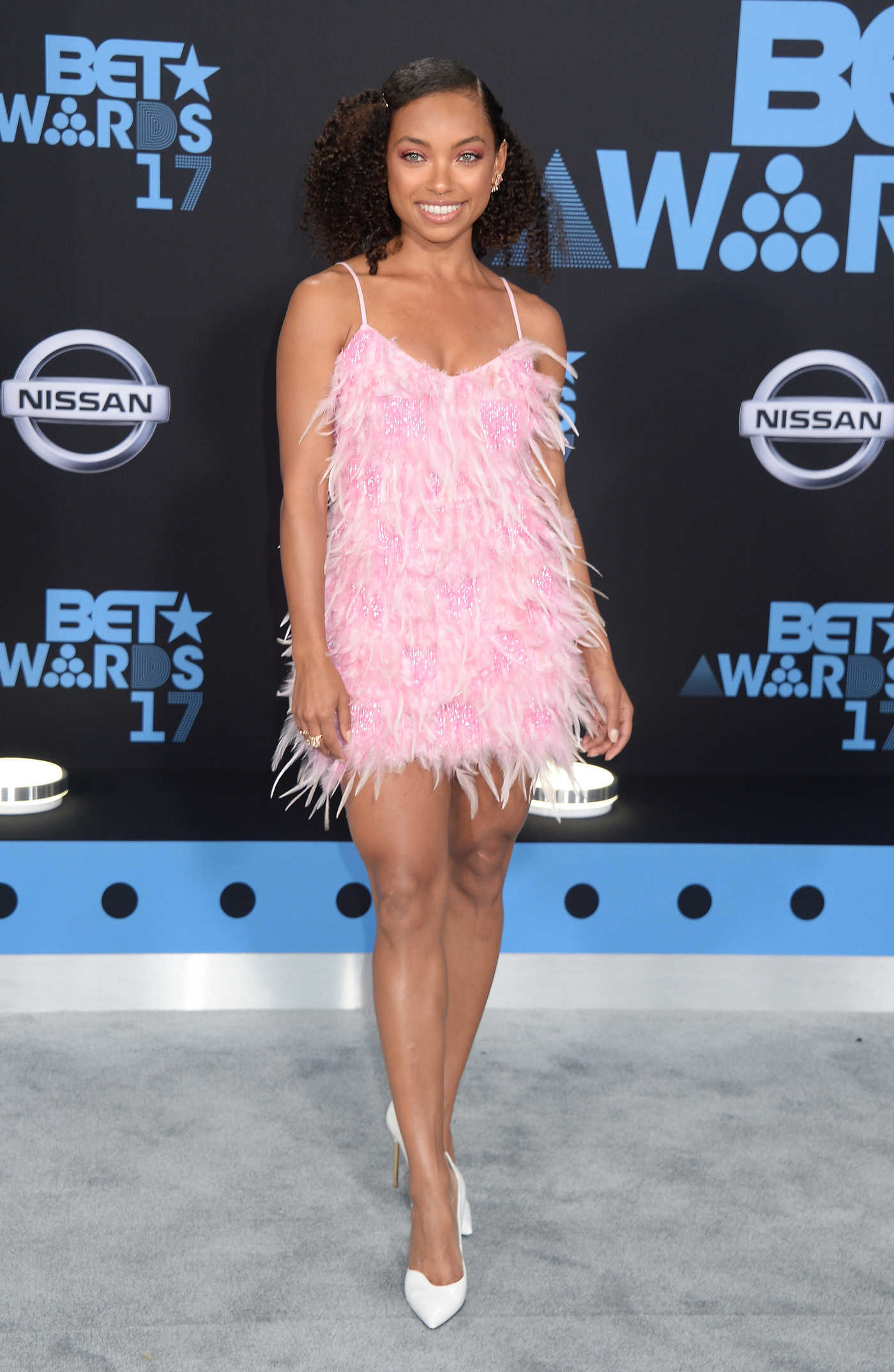 Logan Browning at the BET Awards in Los Angeles 06/25/2017