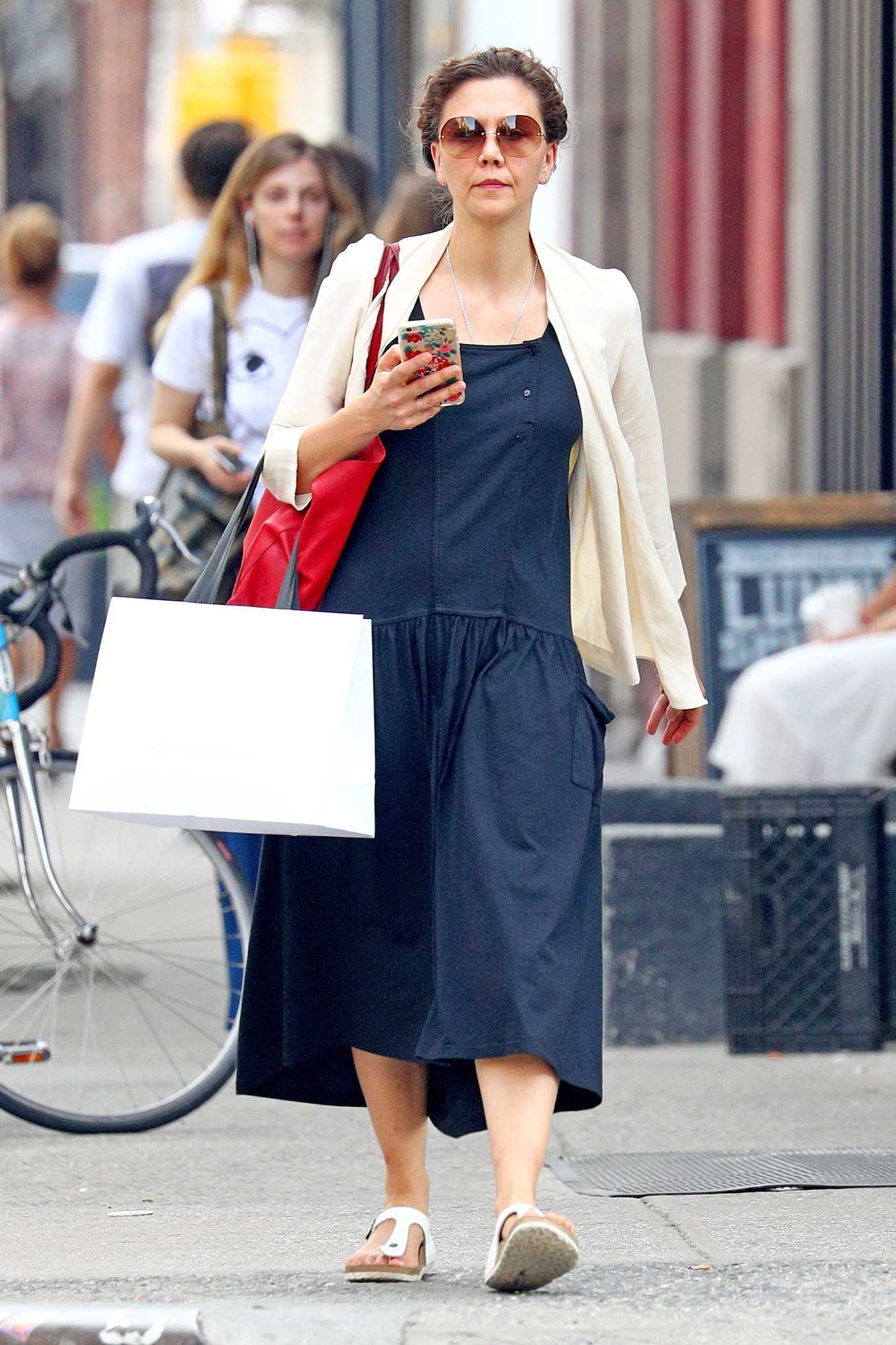 Maggie Gyllenhaal Was Seen Out in Soho, New York 06/13/2017