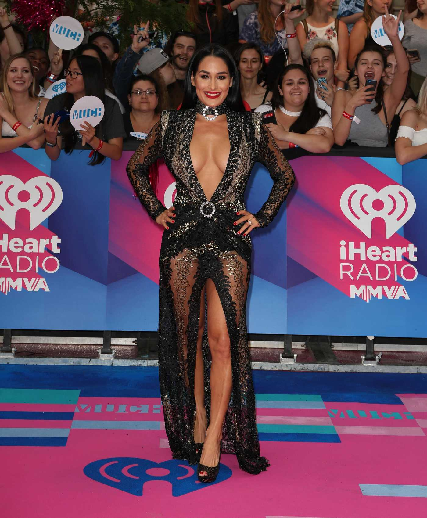 Nikki Bella Arrives at the iHeartRadio MuchMusic Video Awards in Toronto 06/18/2017