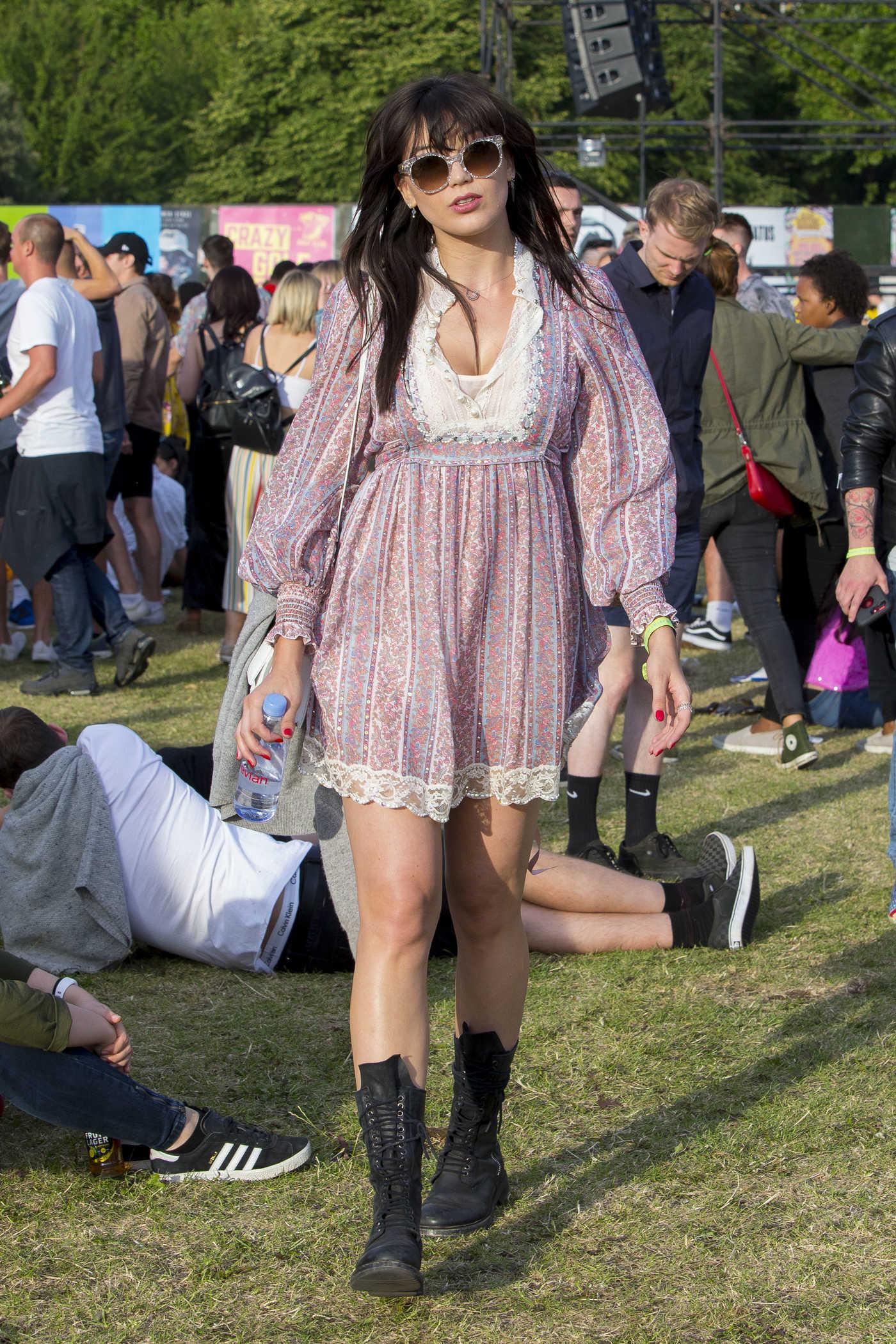 Daisy Lowe Attends Lovebox Festival in London 07/15/2017