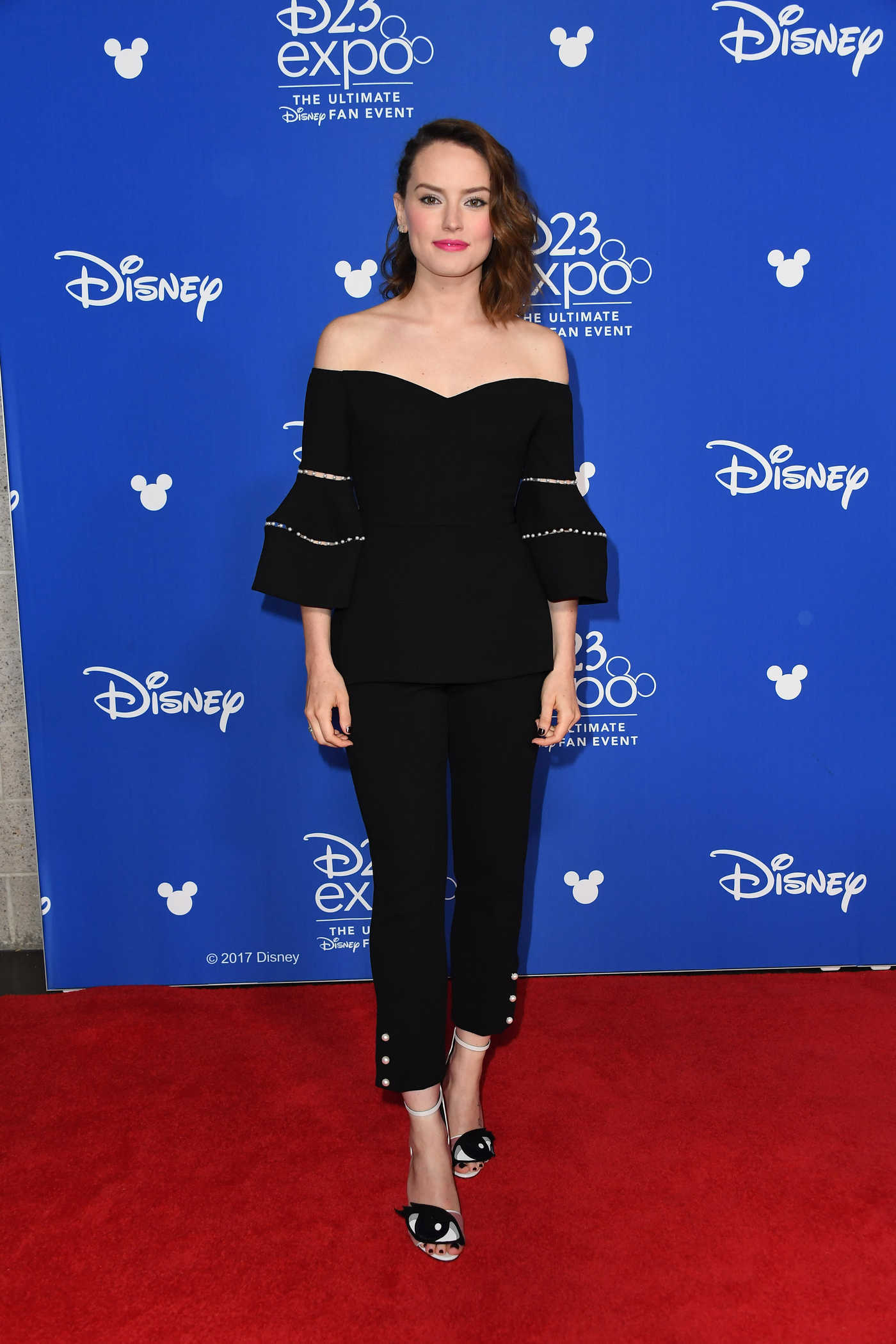 Daisy Ridley at the 2017 Disney D23 Expo in Anaheim 07/15/2017