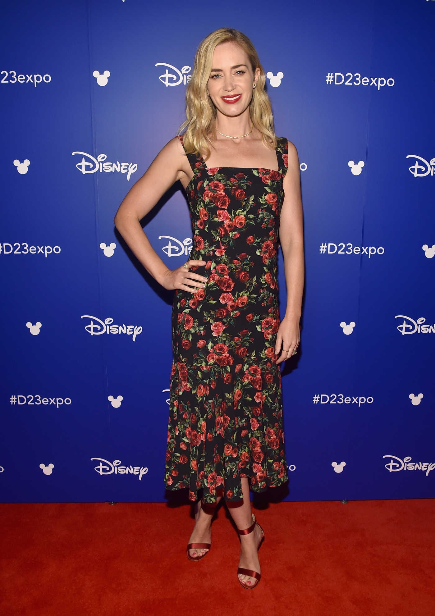 Emily Blunt at the 2017 Disney D23 Expo in Anaheim 07/15/2017