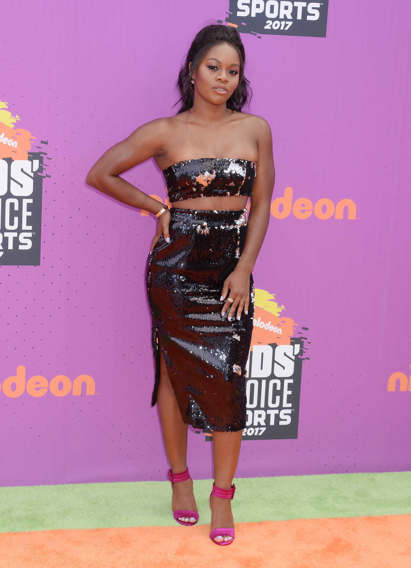 Gabby Douglas at the Nickelodeon Kids' Choice Sports Awards in Los Angeles 07/13/2017