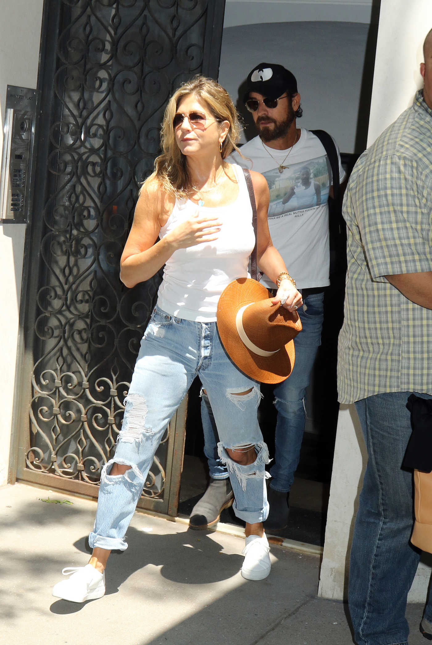 Jennifer Aniston Out for a Lunch in New York City 07/19/2017
