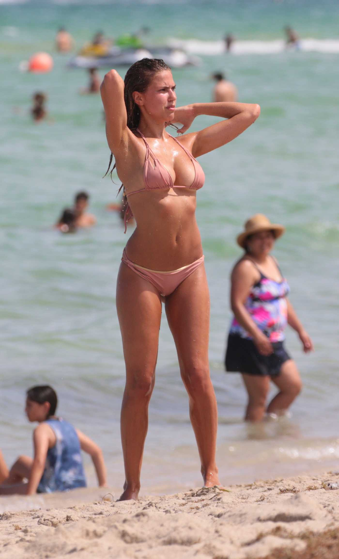 Kara Del Toro in Bikini at the Beach in Miami 07/24/2017