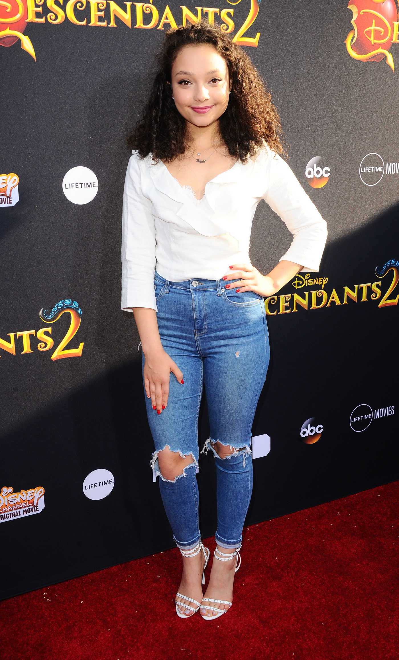 Kayla Maisonet at the Descendants 2 Premiere in Los Angeles 07/11/2017