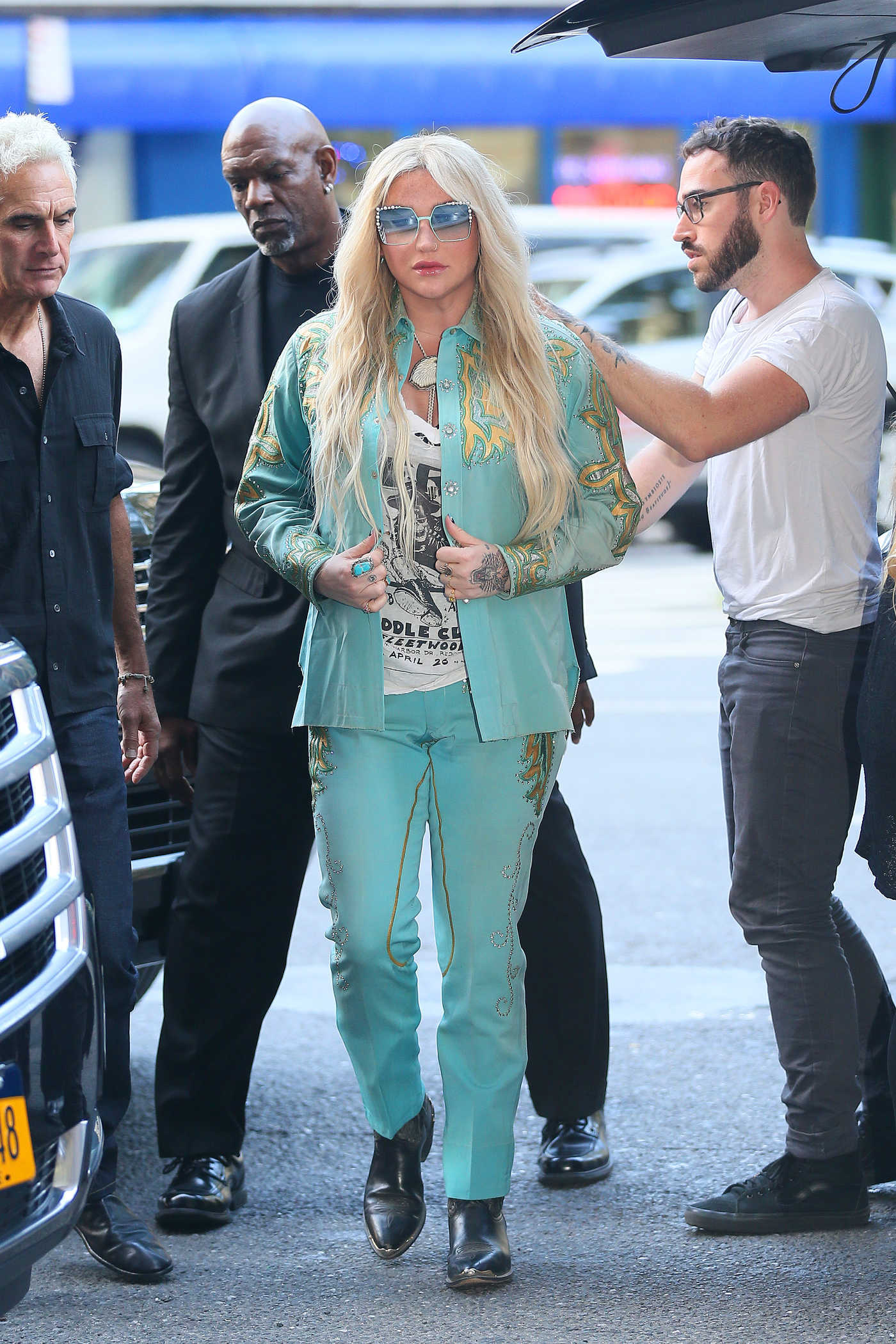 Kesha Arrives at Z100 Radio Station Studios in New York City 07/18/2017
