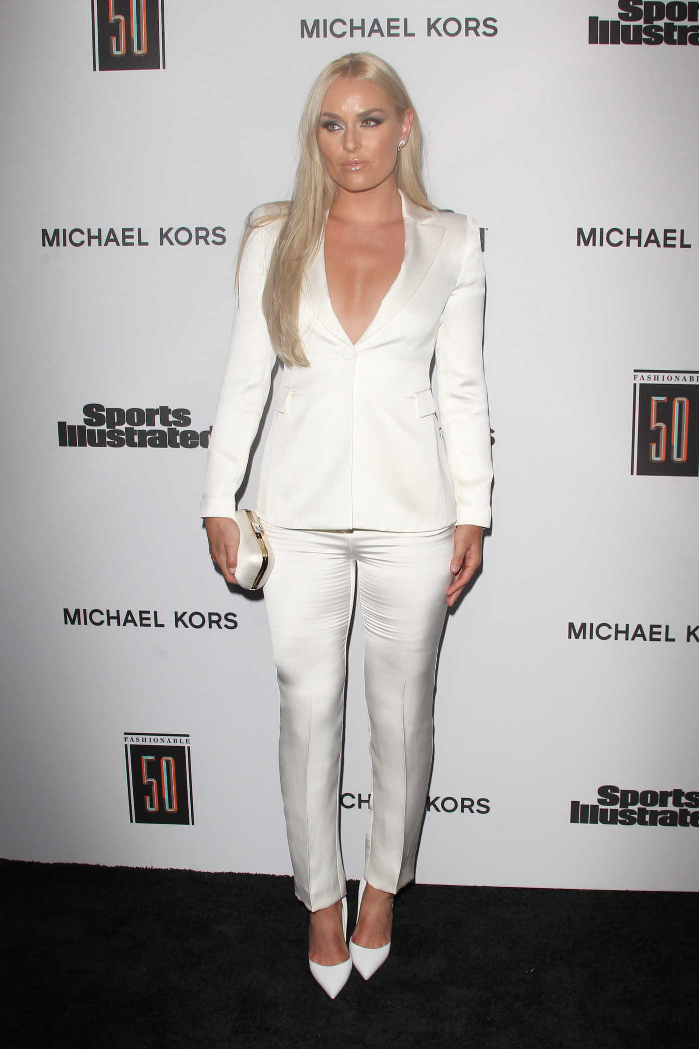 Lindsey Vonn at the Sports Illustrated Fashionable 50 in Hollywood 07/18/2017