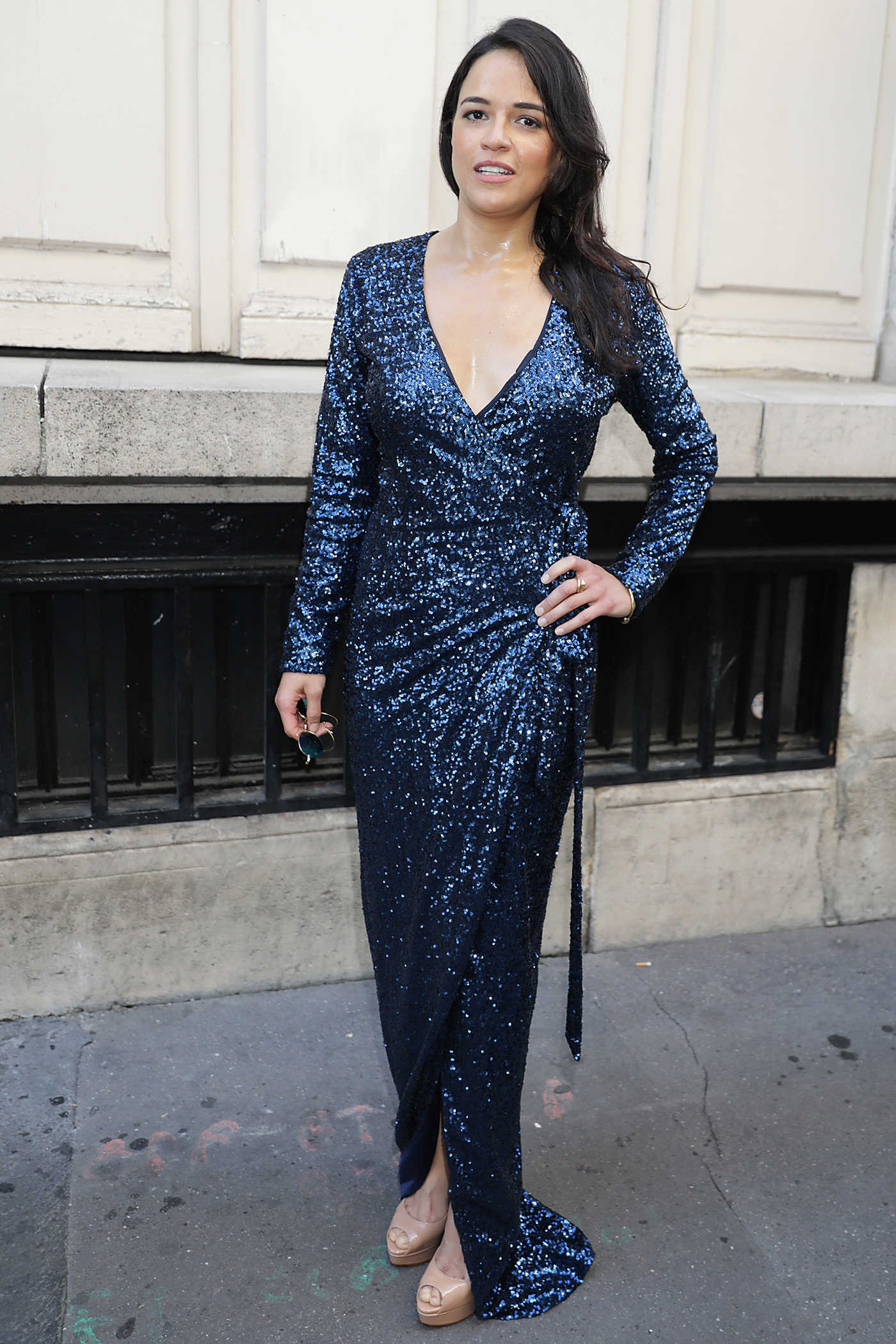 Michelle Rodriguez Leaves Azzedine Alaia Fashion Show During the Haute Couture Fashion Week in Paris 07/05/2017