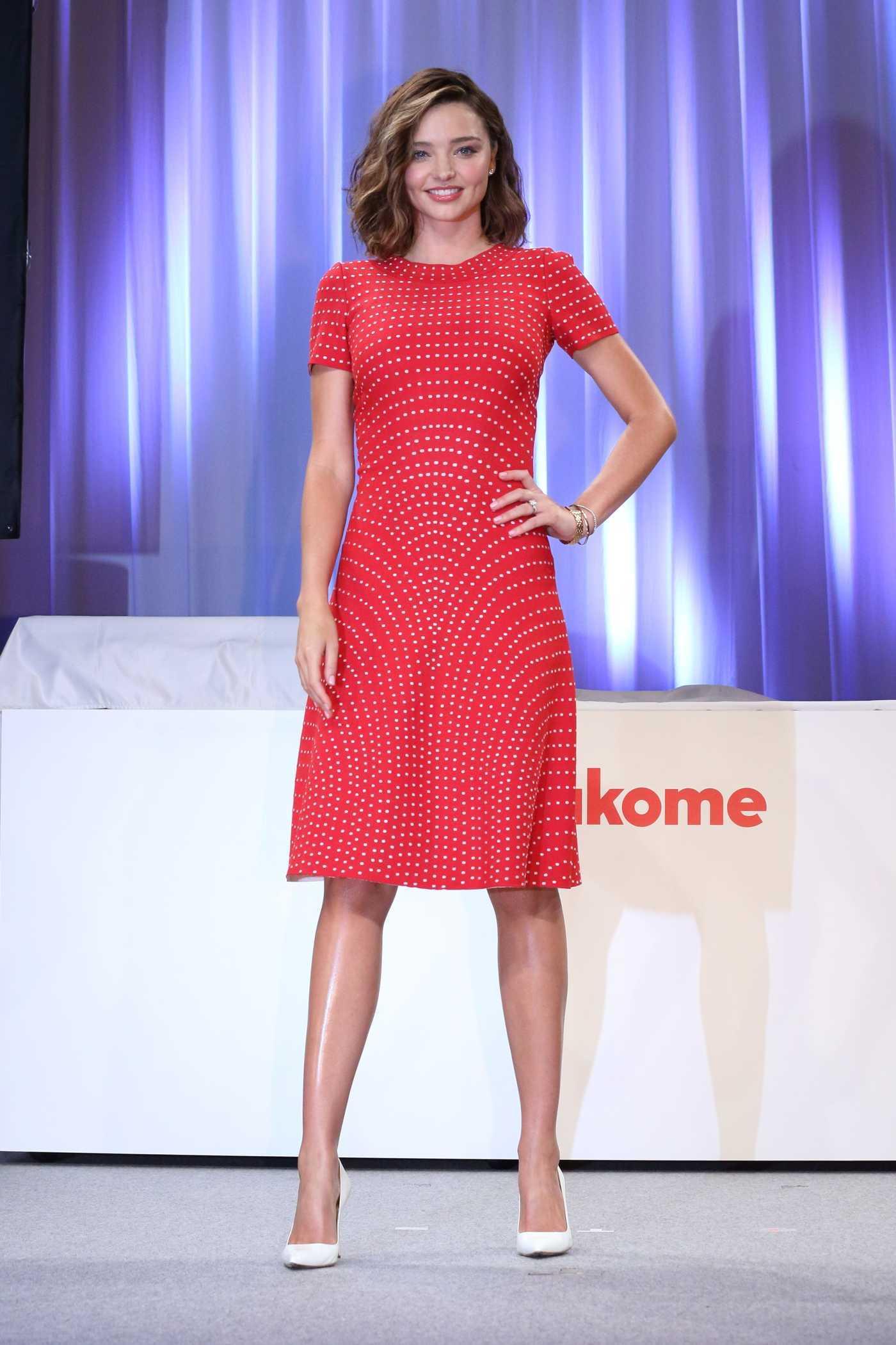Miranda Kerr Promotes Marukome Products in Tokyo 07/10/2017