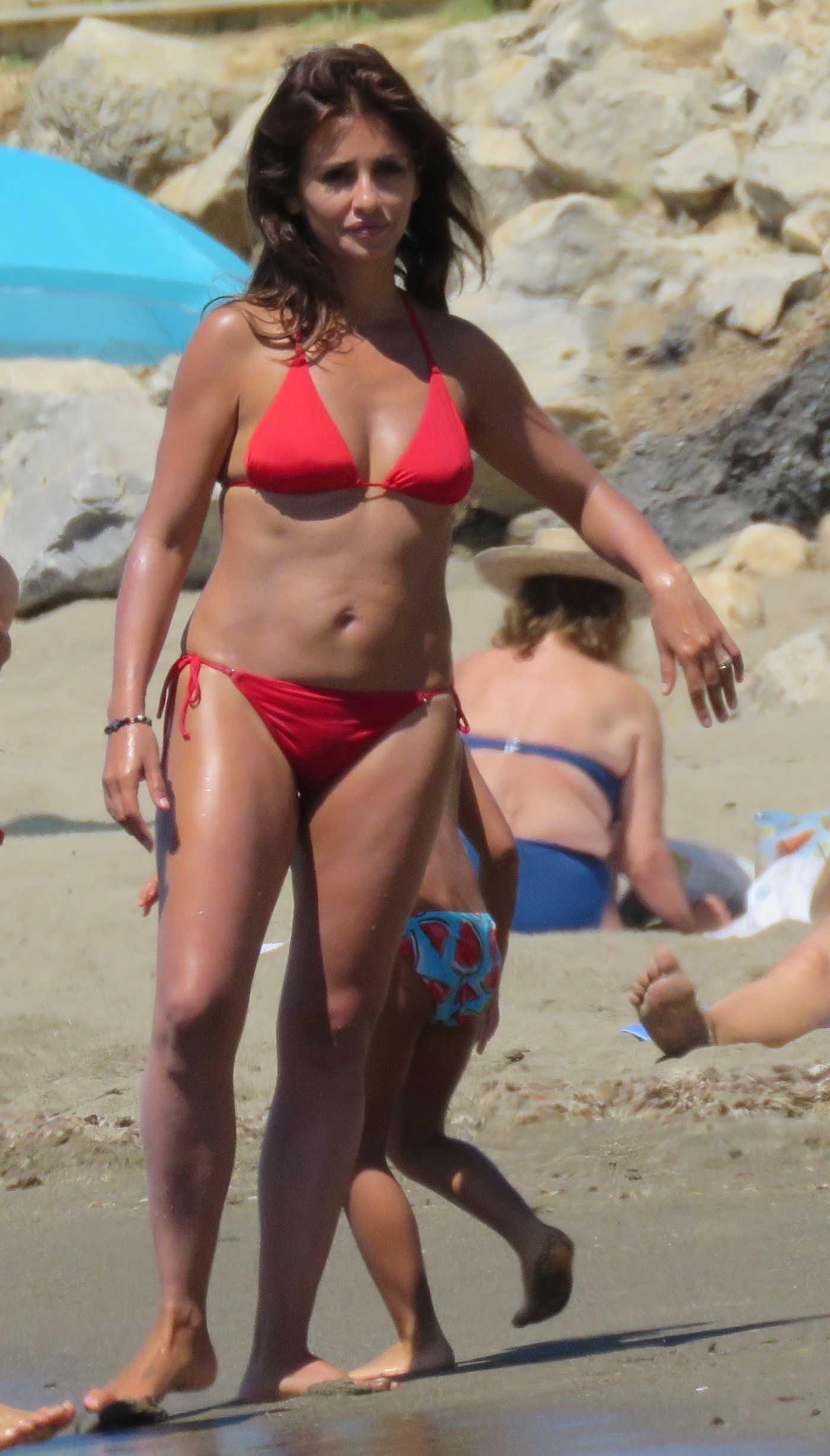 Monica Cruz in Bikini at the Beach in Marbella 07/05/2017
