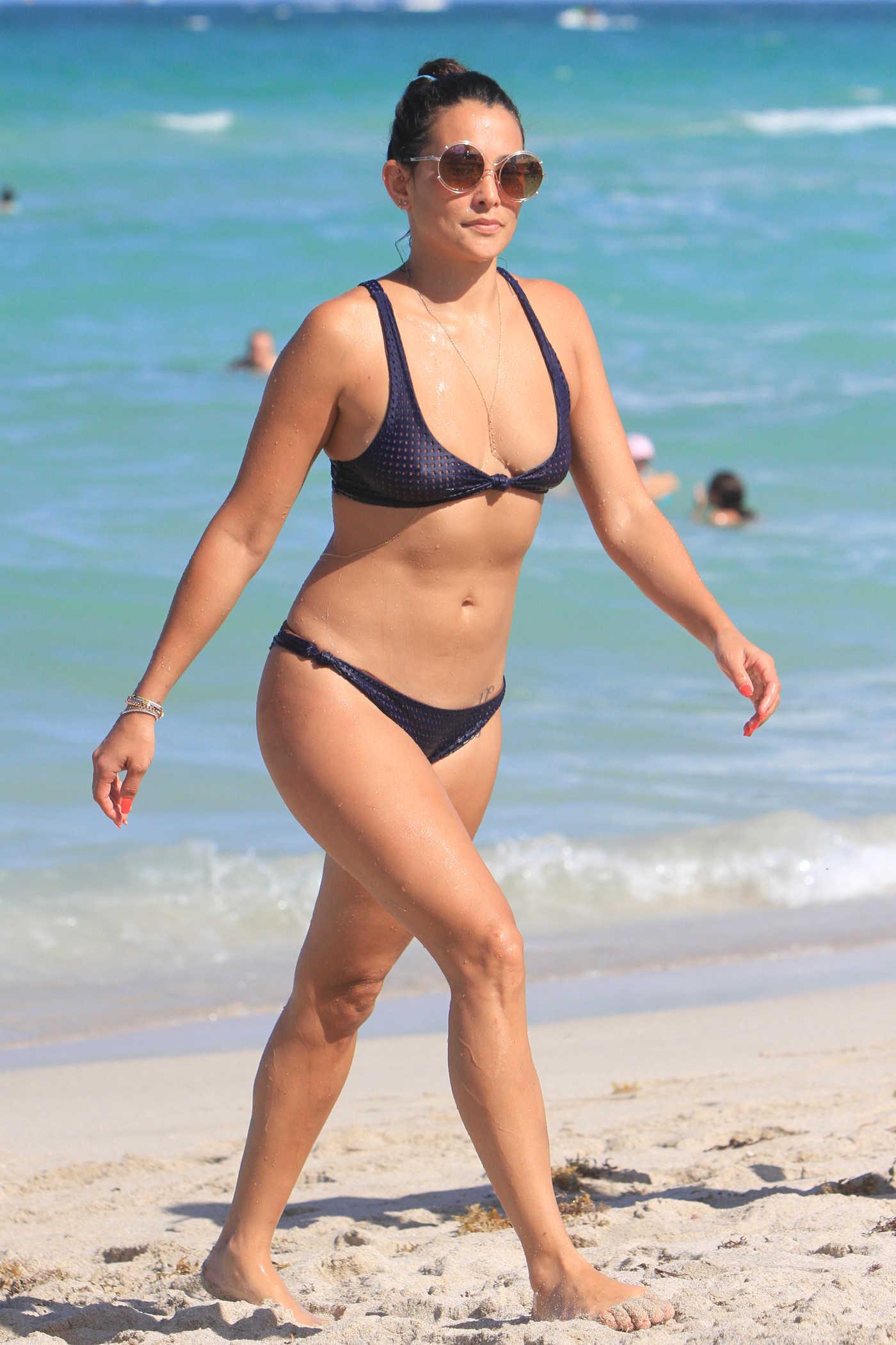 Natalie Martinez in Bikiki at the Beach in Miami 07/14/2017