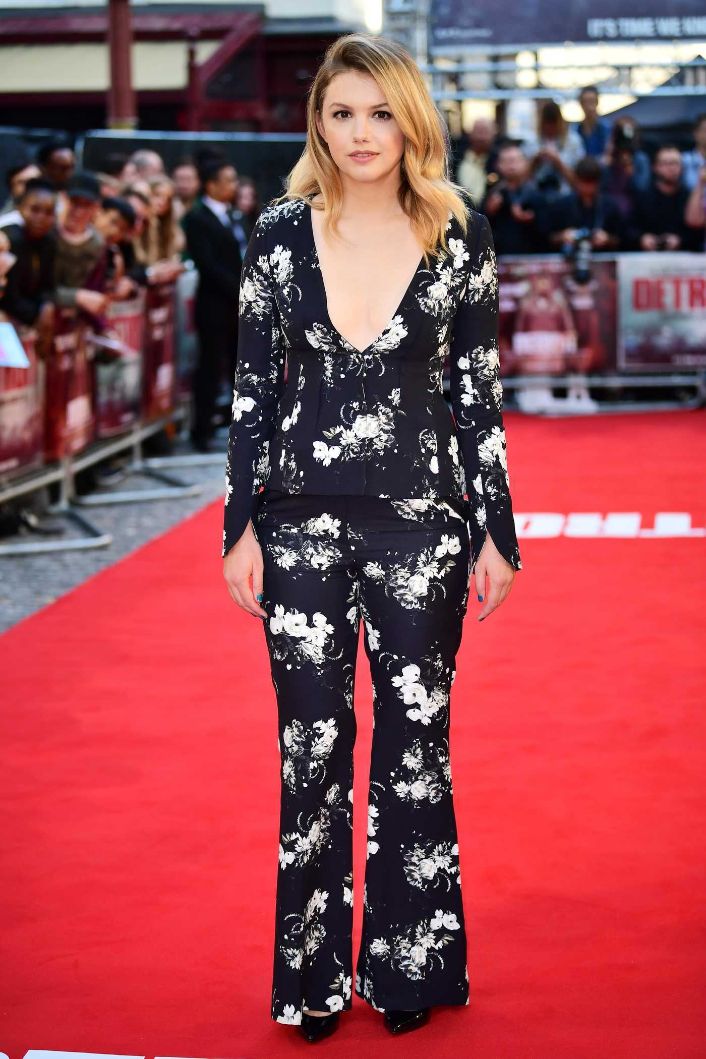 Hannah Murray at Britain Detroit Premiere in London 08/16/2017