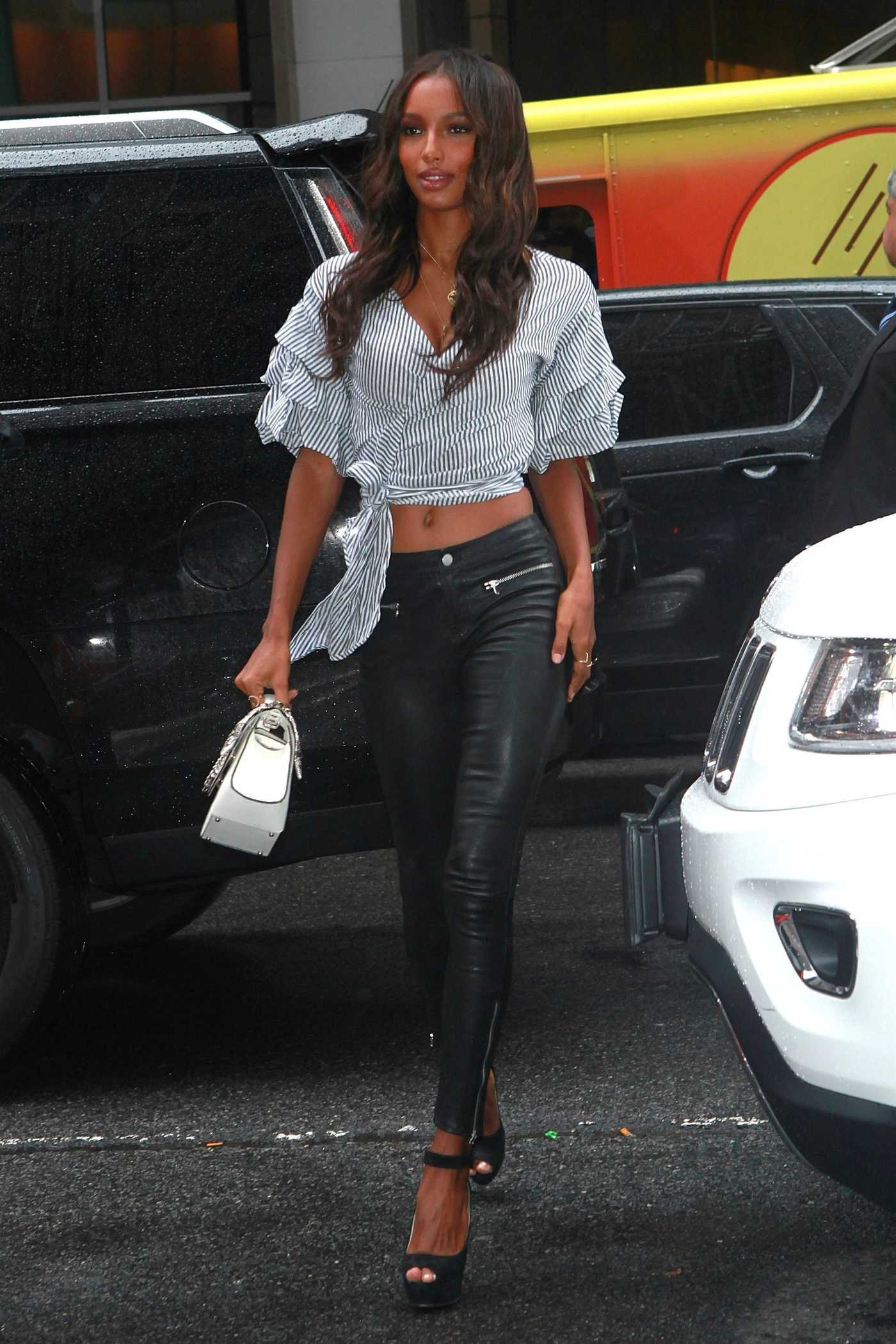 Jasmine Tookes Attends the Fittings for the Victoria Secret Fashion Show in NYC 08/29/2017