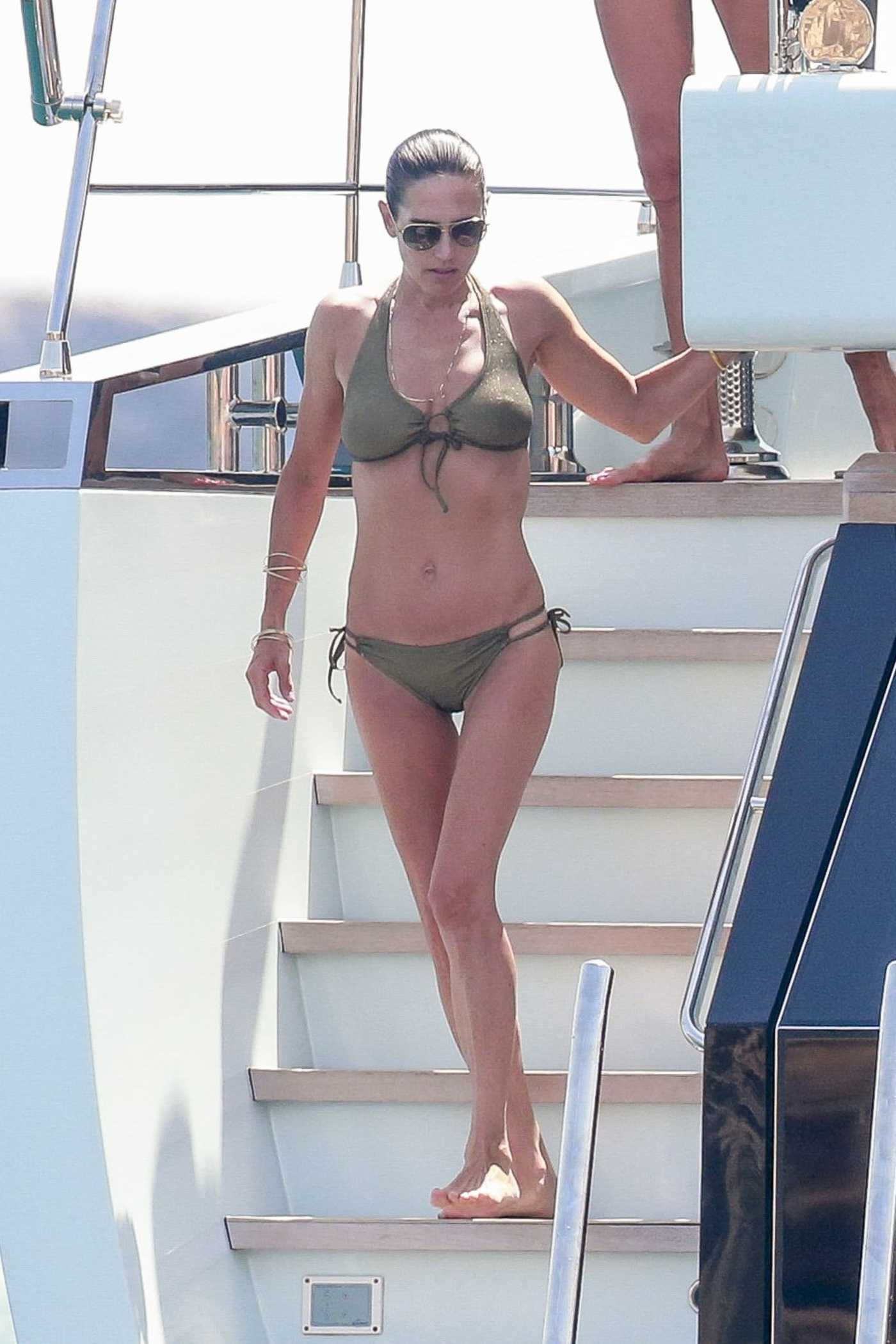 Jennifer Connelly in Bikini on a Yacht in Ibiza 08/17/2017