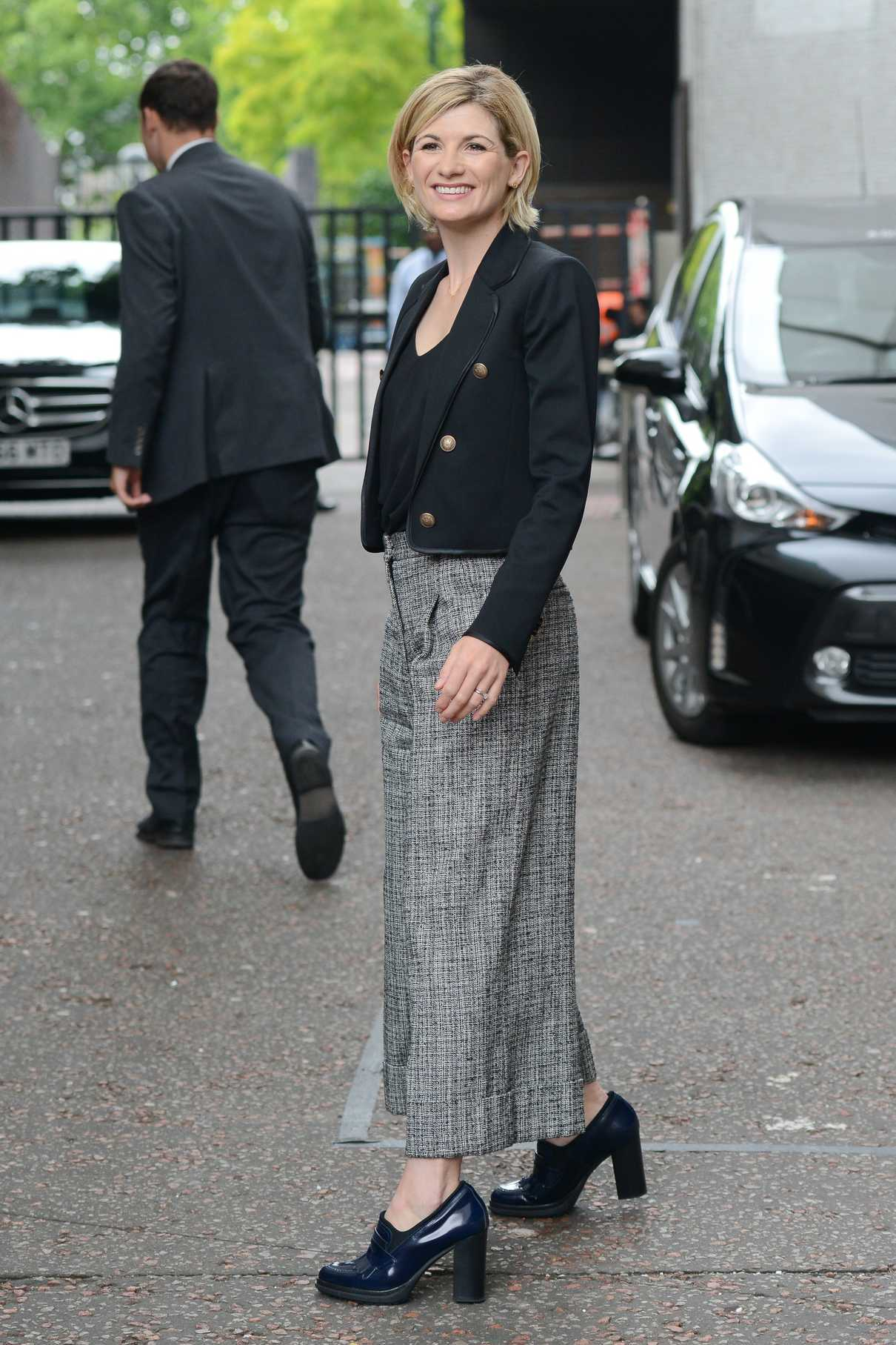 Jodie Whittaker Leaves the ITV Studios in London 08/08/2017