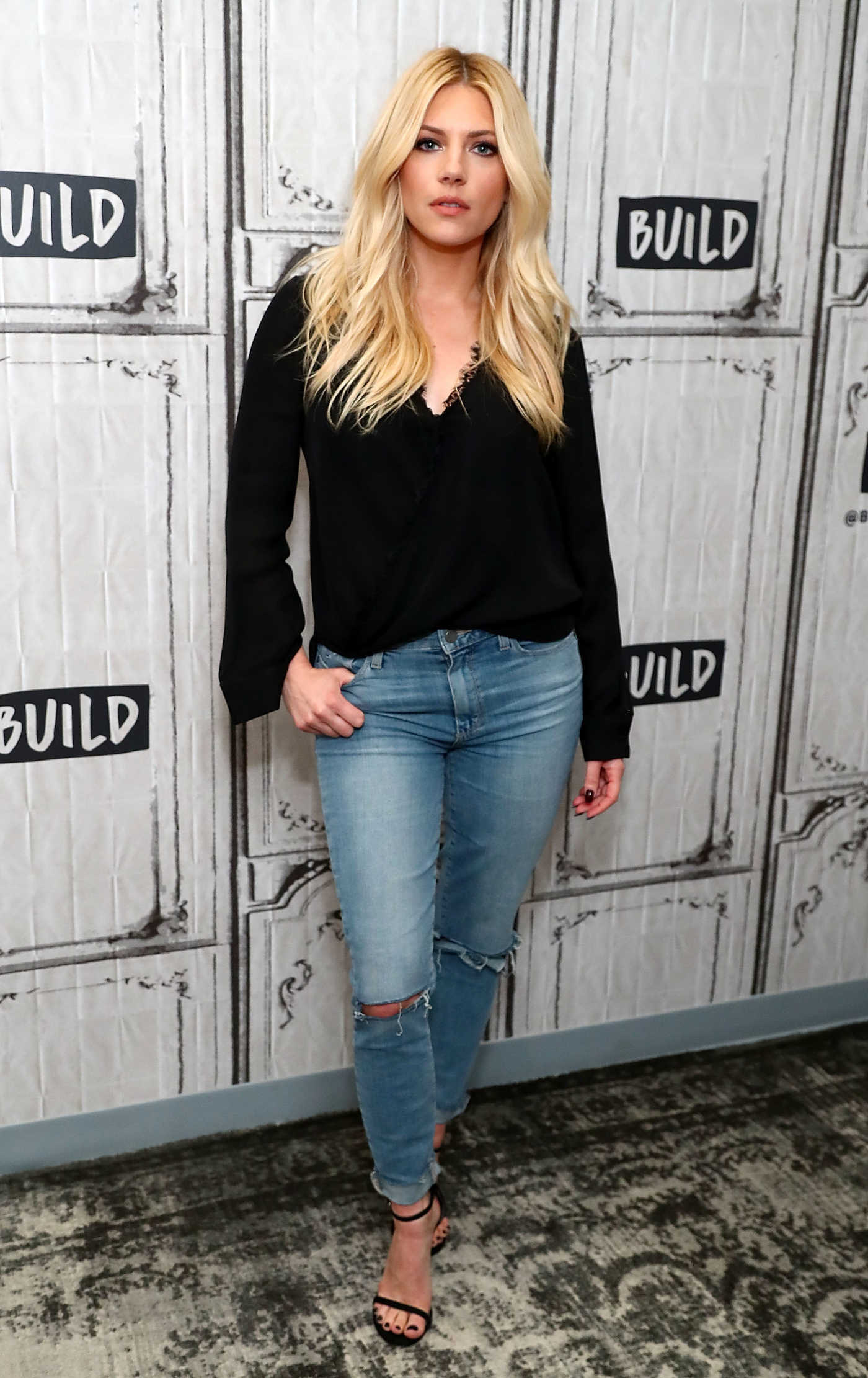 Katheryn Winnick Visits AOL Build Studio in New York City 08/01/2017