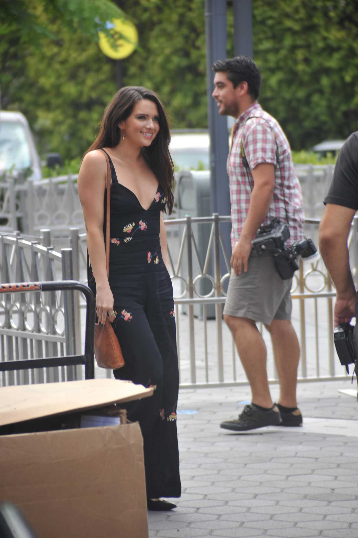 Katie Stevens at the Universal City Walk to Tape Extra in LA 08/15/2017