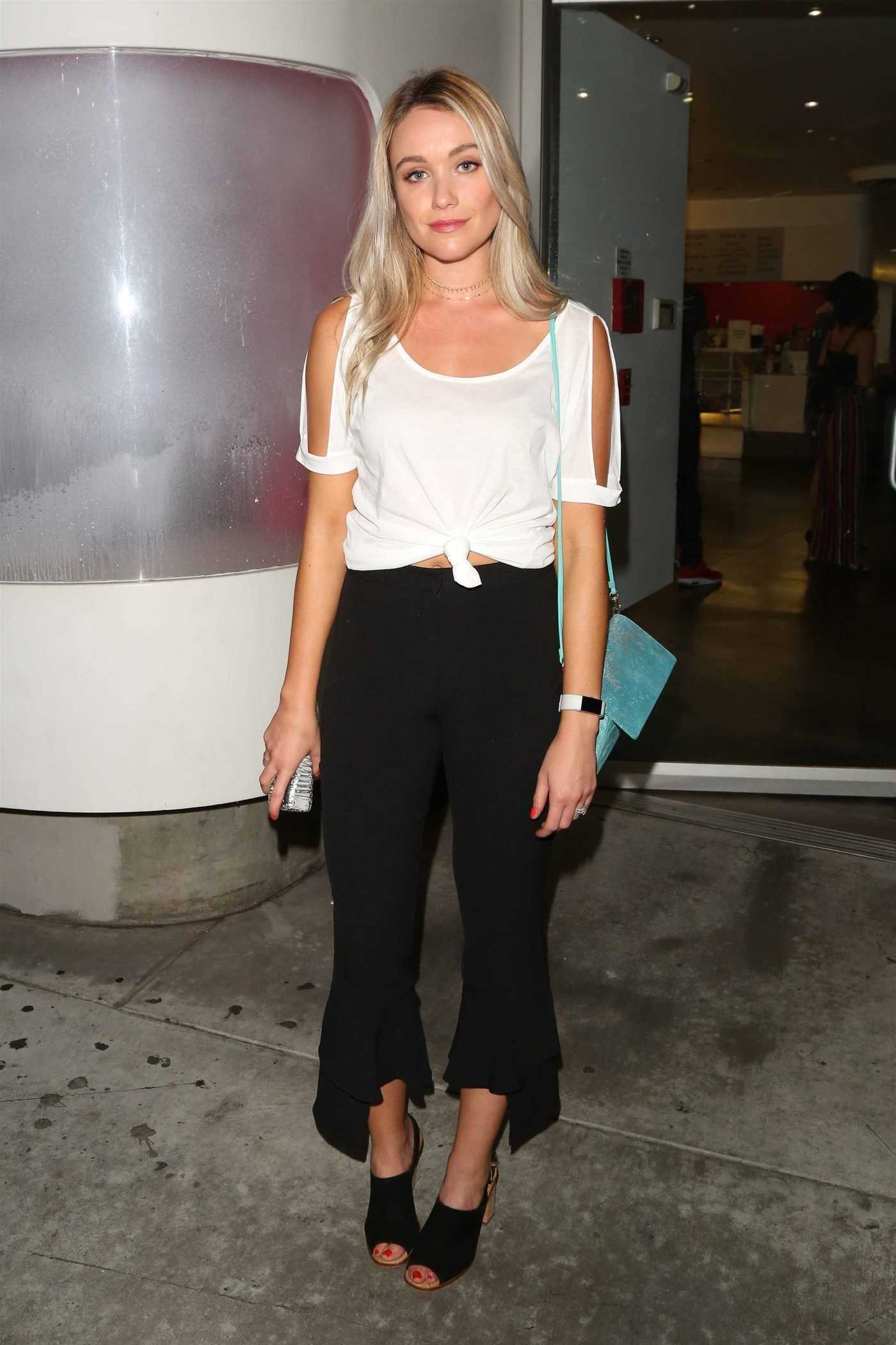 Katrina Bowden Leaves the Downtown Independent Theater in LA 08/31/2017