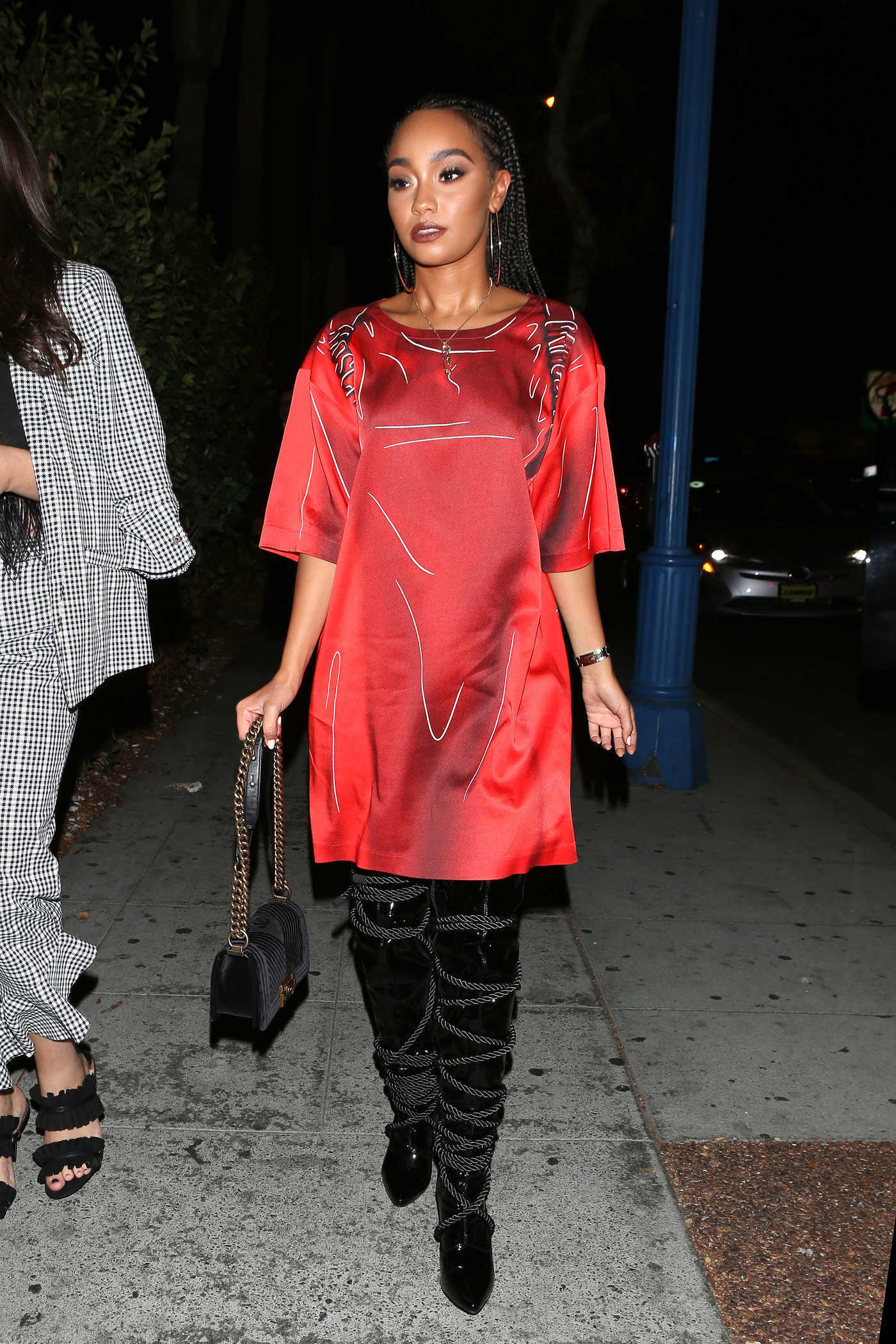 Leigh-Anne Pinnock Arrives at Delilah's Night Club in West Hollywood 08/03/2017