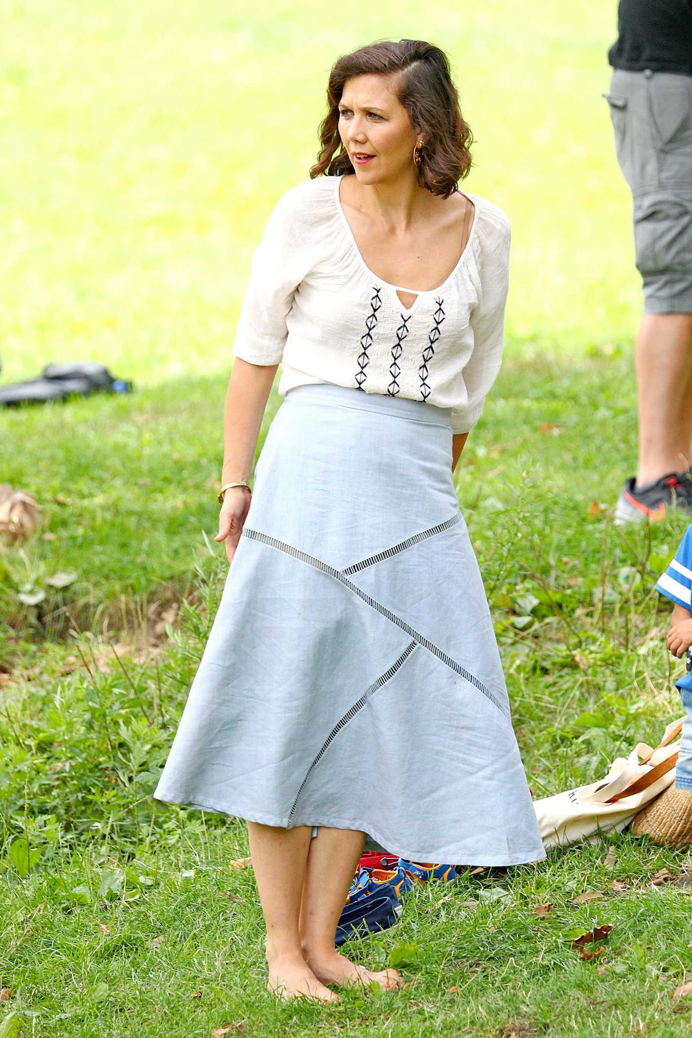Maggie Gyllenhaal on the Set of The Kindergarten Teacher in Central Park in New York 08/11/2017
