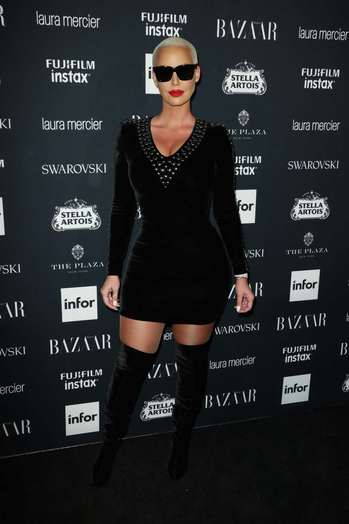 Amber Rose at Harper's Bazaar ICONS Party During New York Fashion Week 09/08/2017