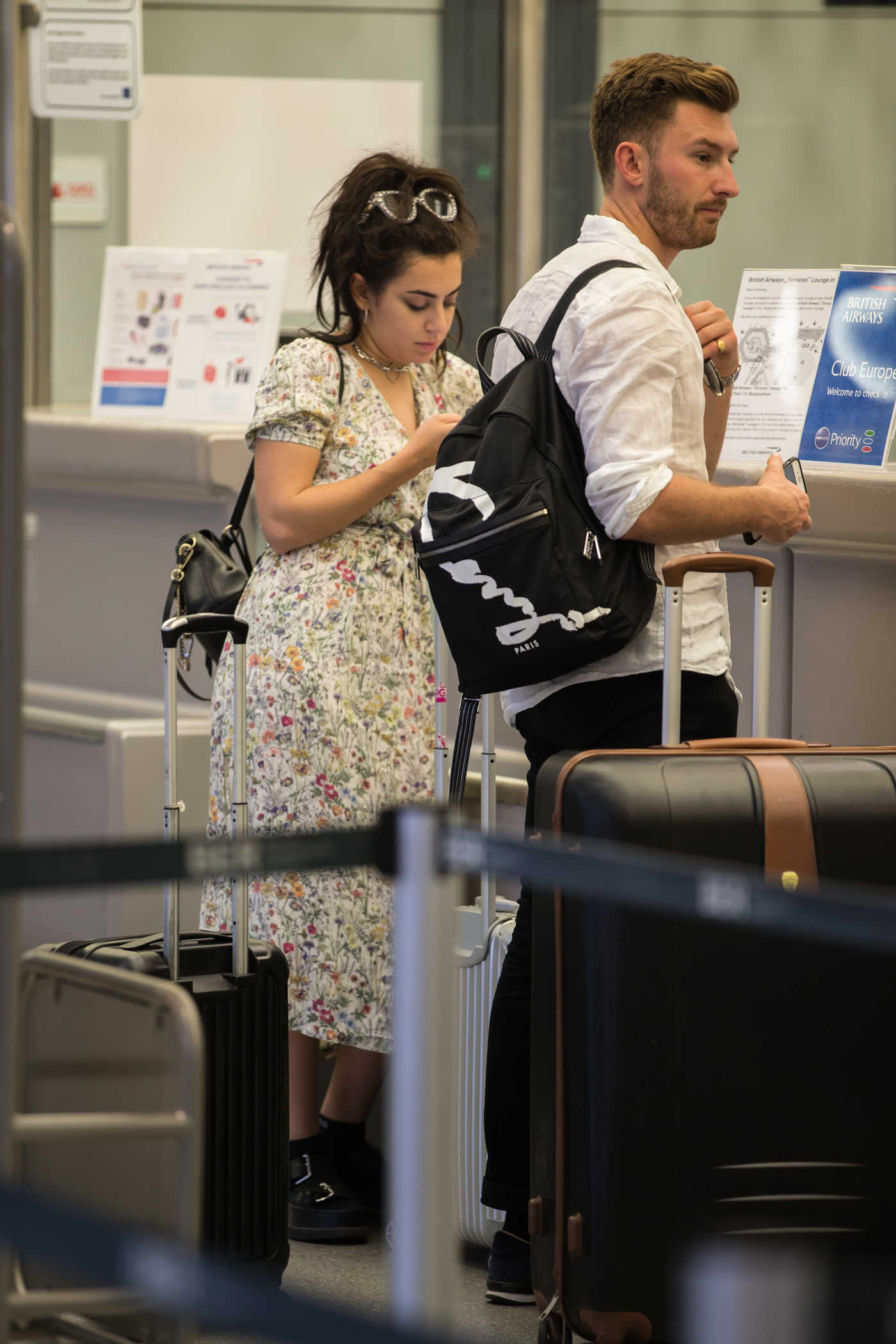 Charli XCX Was Seen at the Airport Tegel in Berlin 08/30/2017