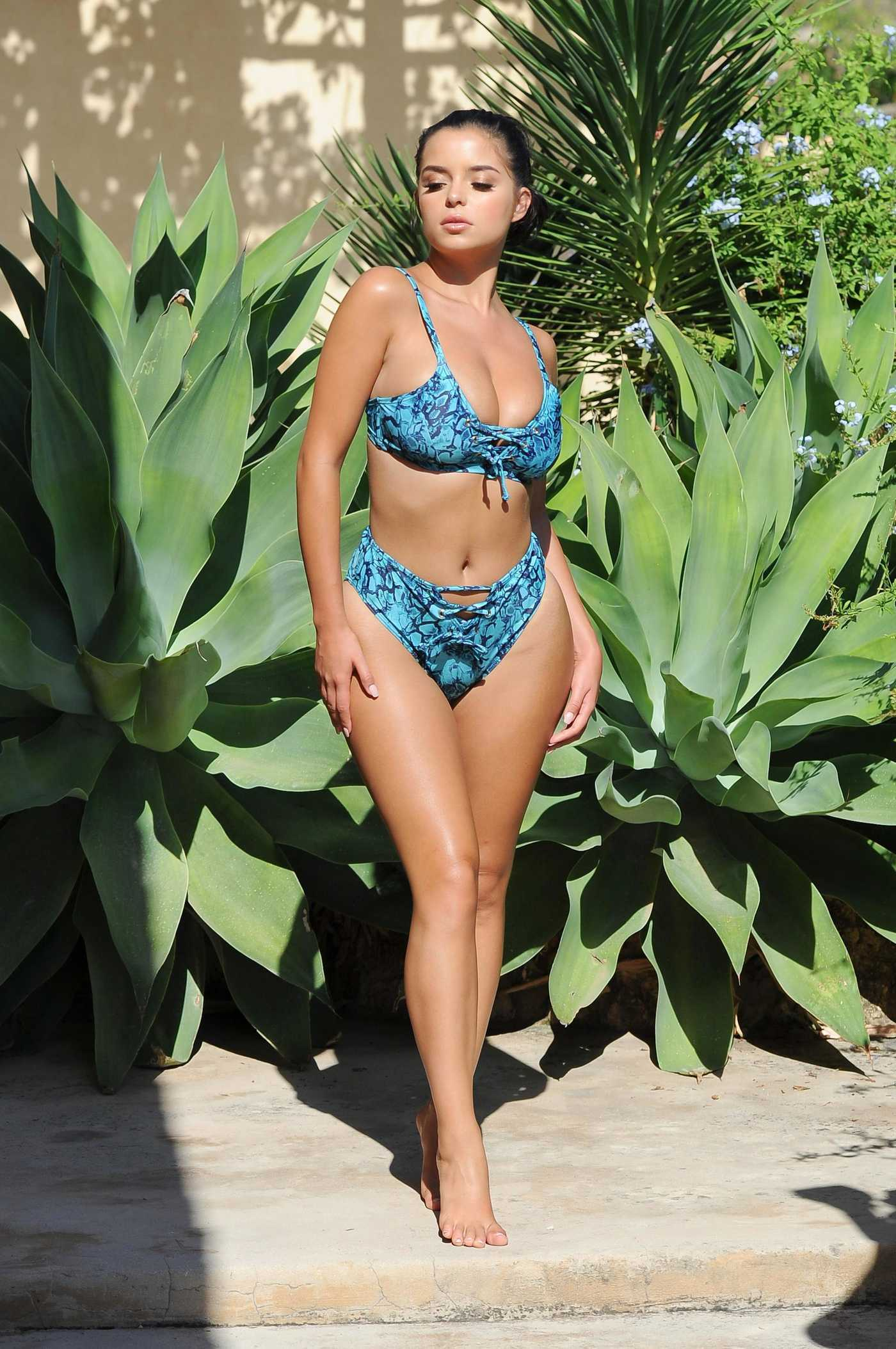 Demi Rose Does a Photo Shoot for Wolf and Whistle Swimwear in Ibiza 09/28/2017