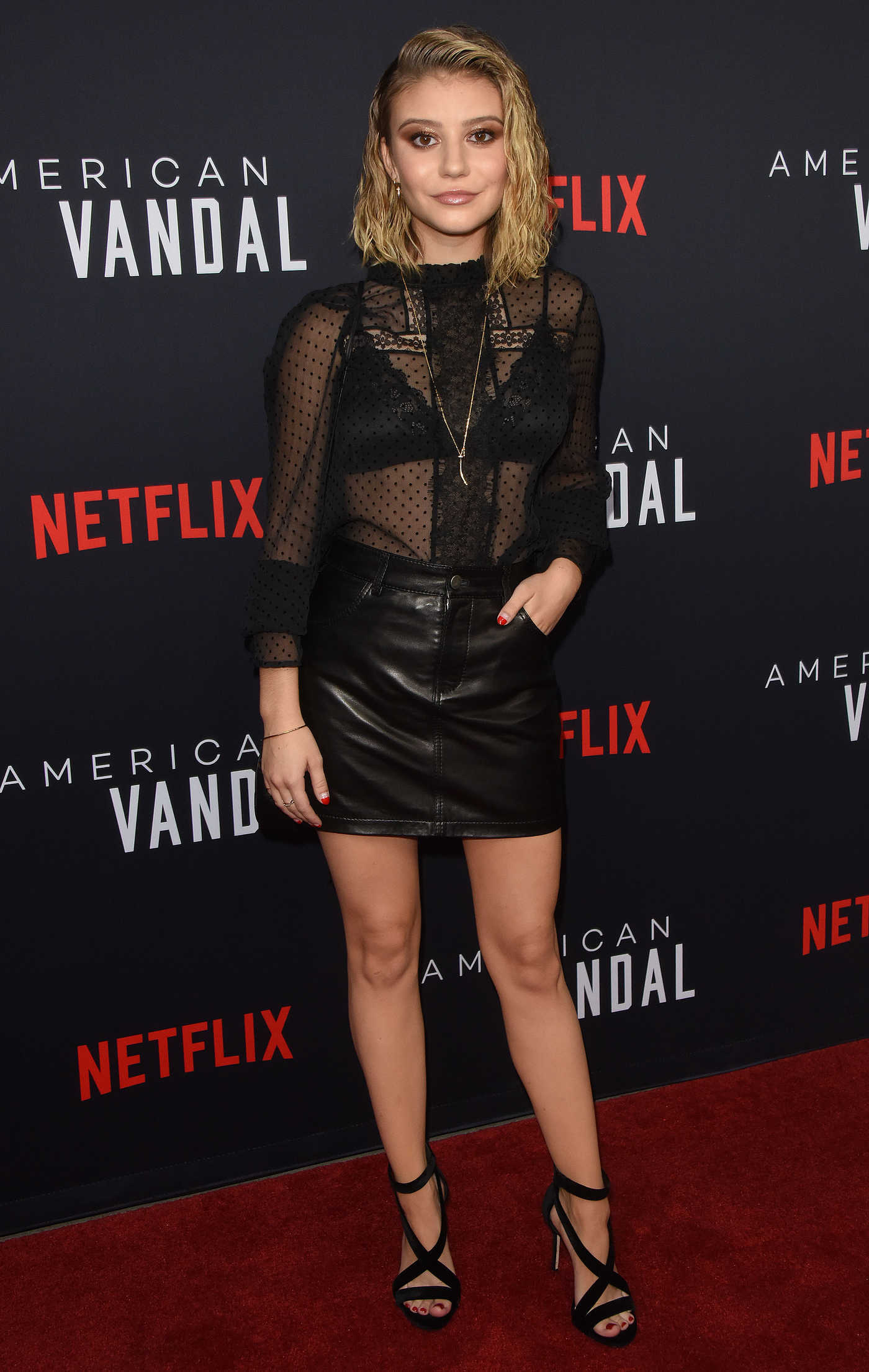 Genevieve Hannelius at American Vandal TV Show Special Screening in LA 09/14/2017