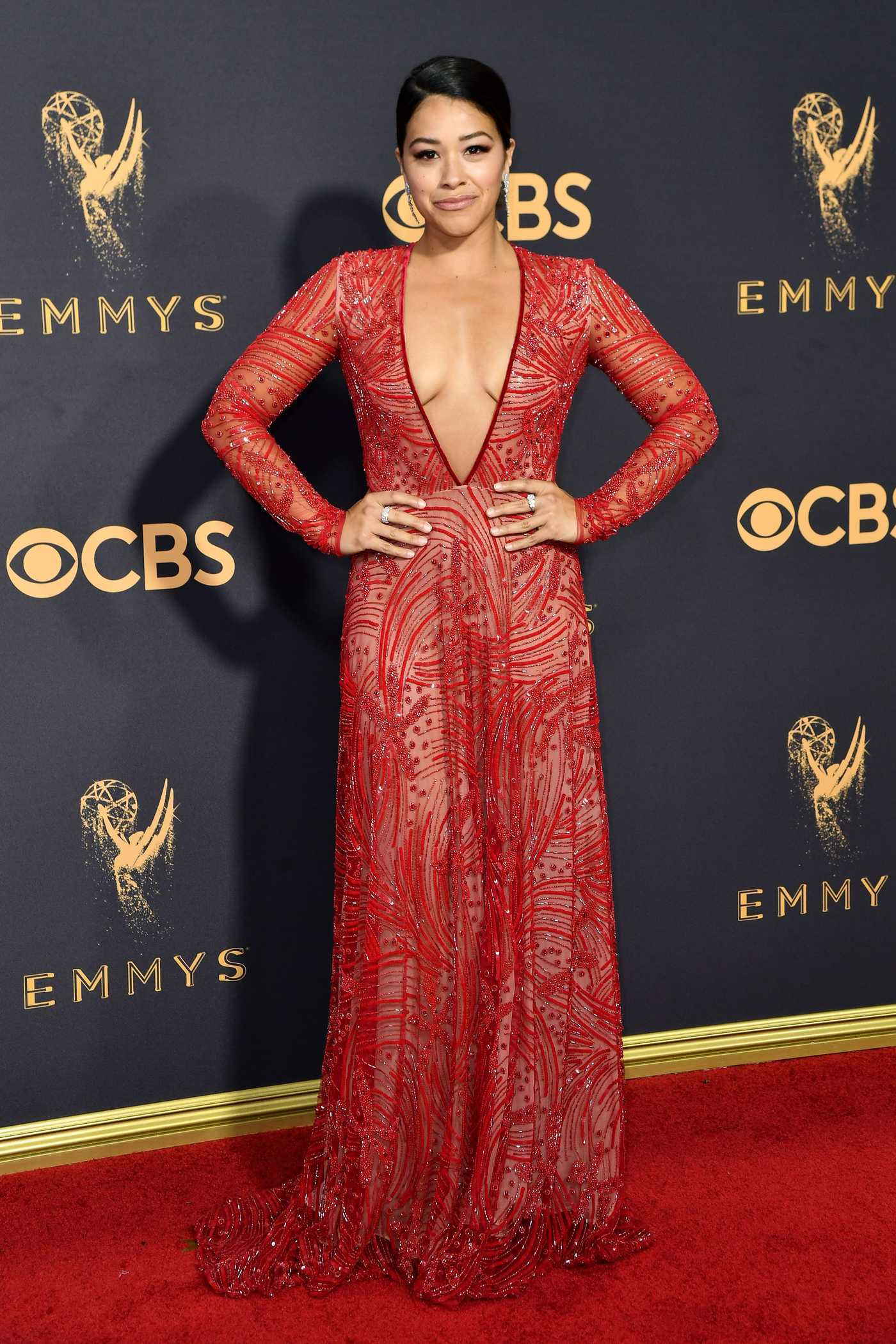 Gina Rodriguez at the 69th Annual Primetime Emmy Awards in Los Angeles 09/17/2017