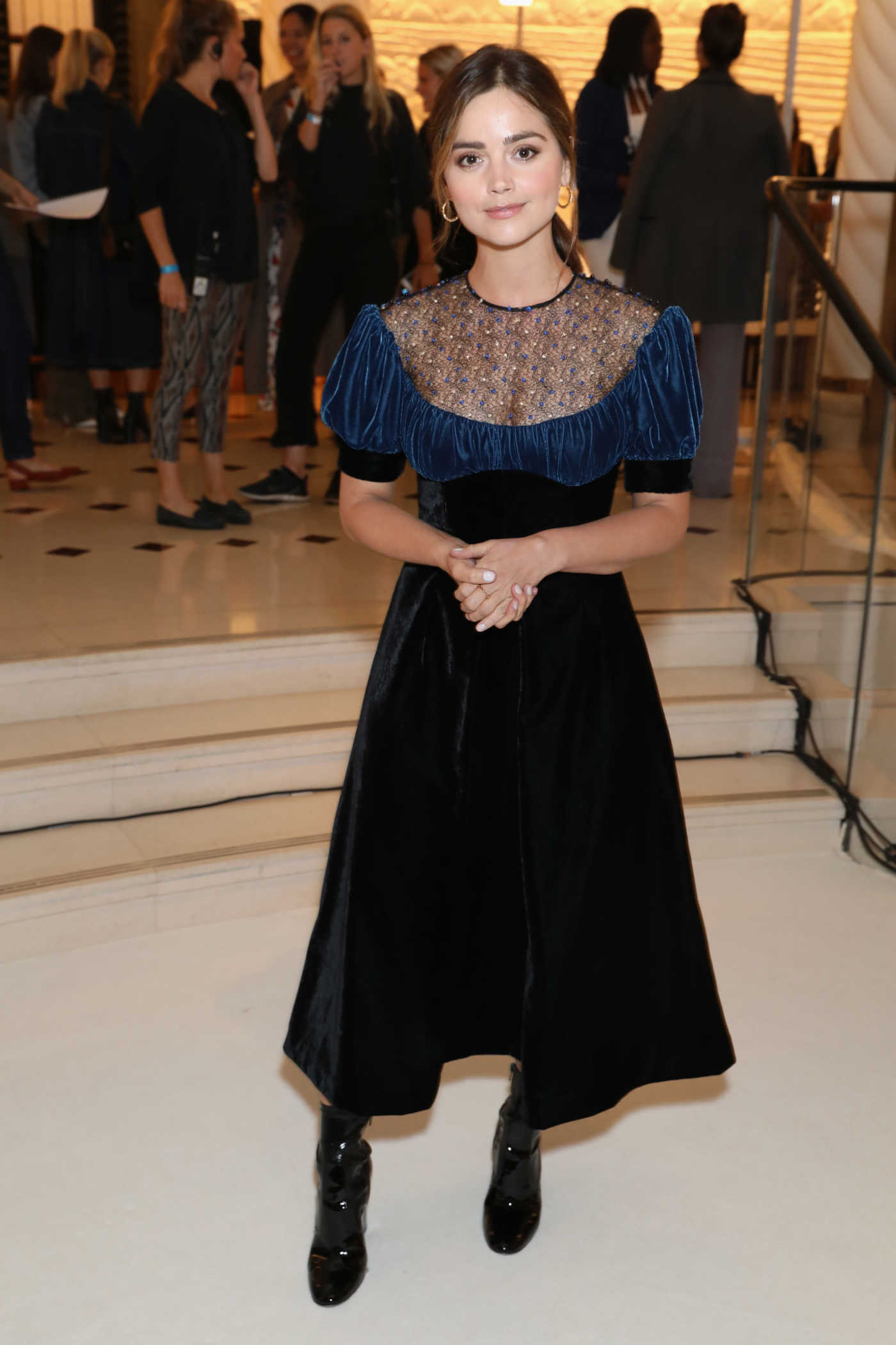 Jenna-Louise Coleman at Emilia Wickstead Fashion Show During London Fashion Week 09/18/2017