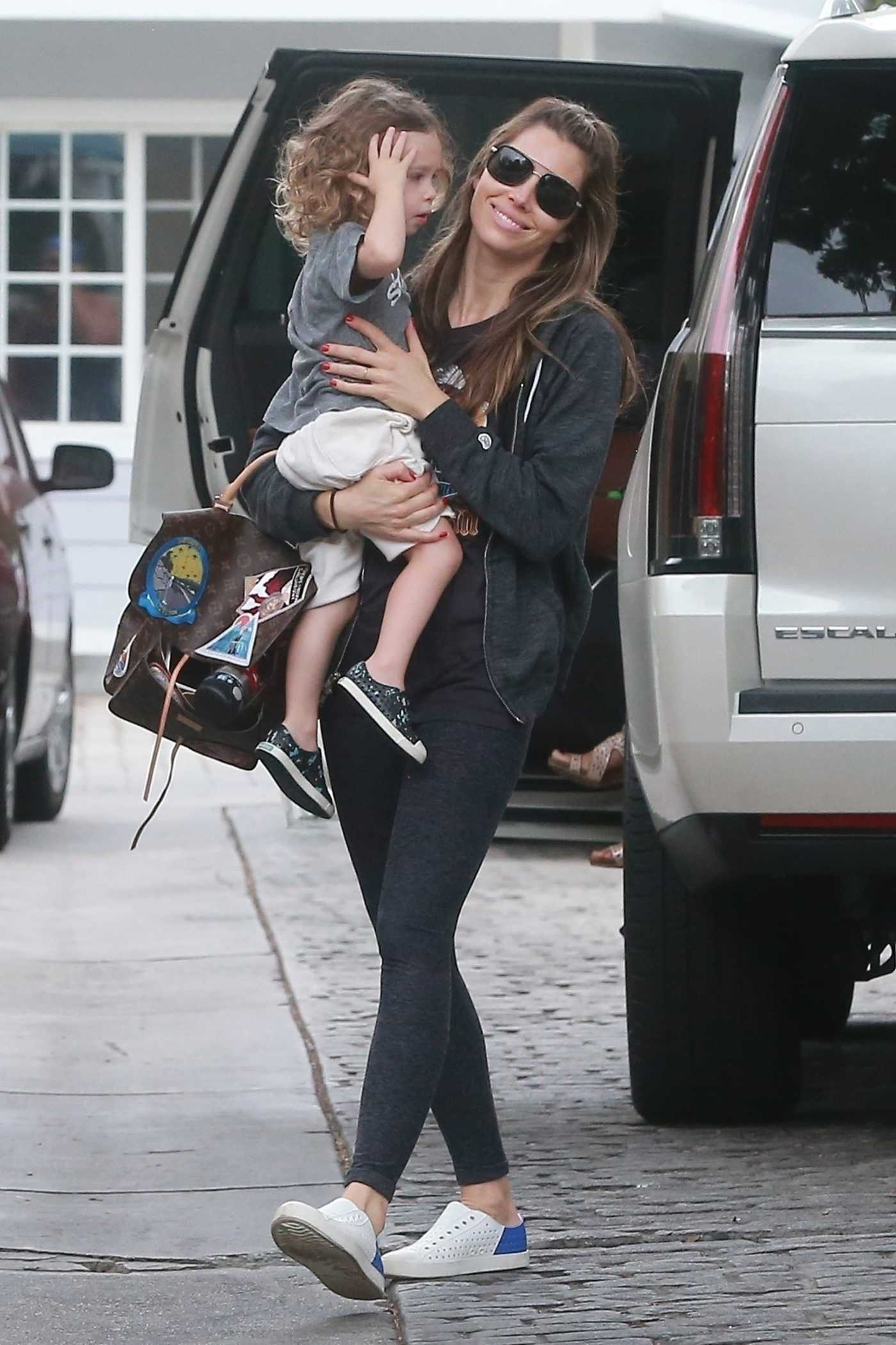 Jessica Biel Was Seen With Her Son Silas in Studio City 09/16/2017
