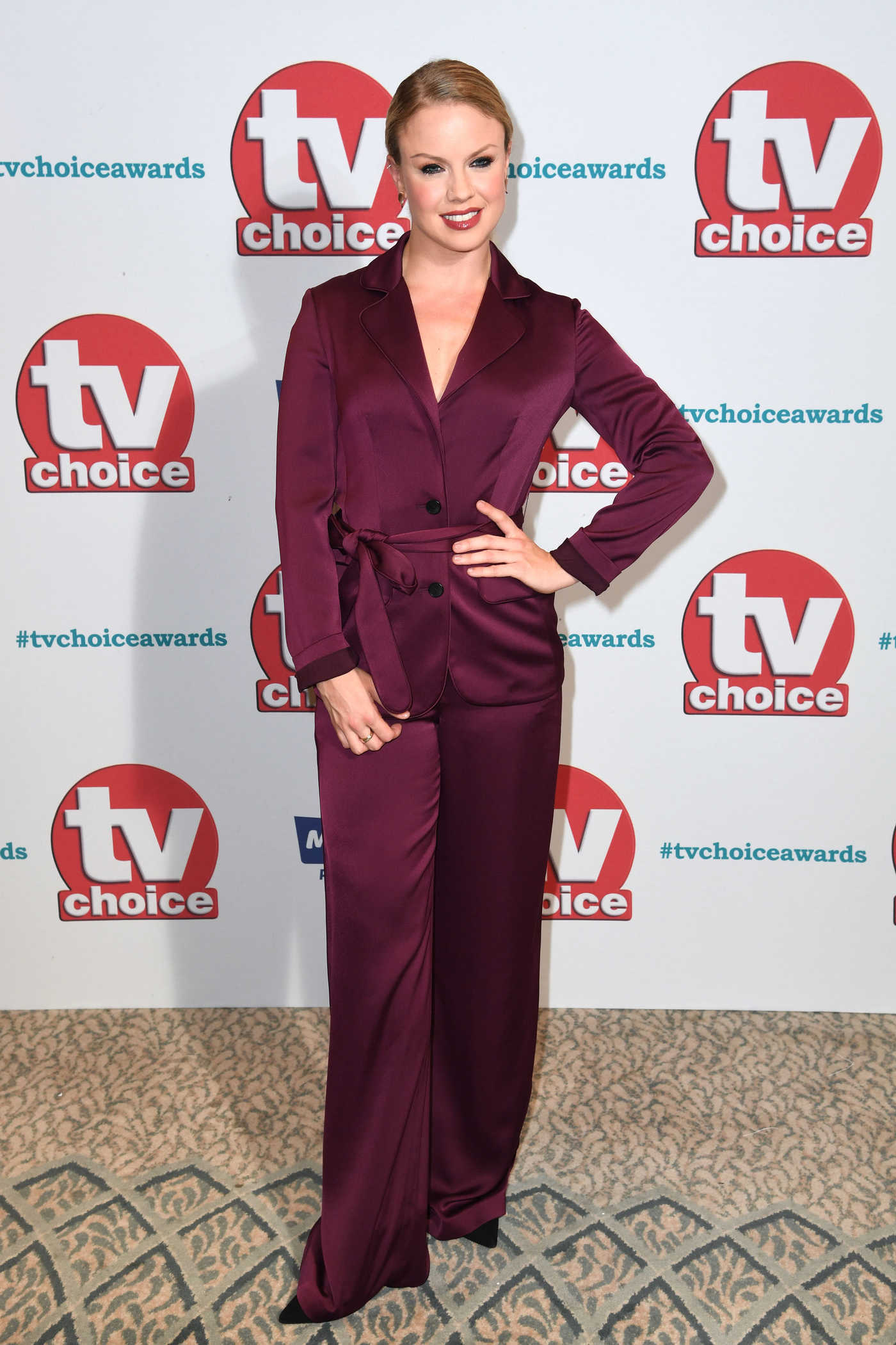 Joanne Clifton at TV Choice Awards at The Dorchester in London 09/04/2017
