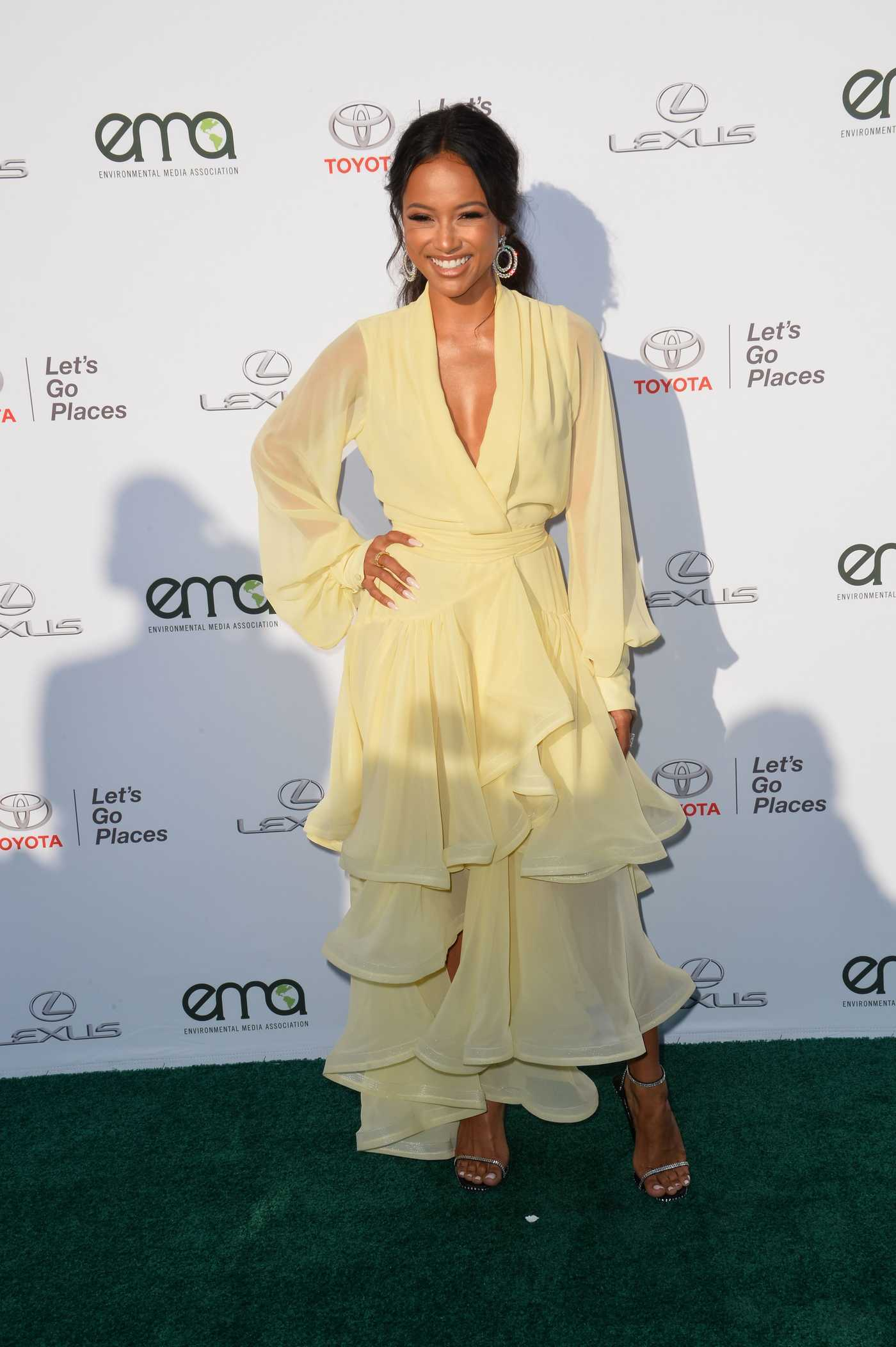 Karrueche Tran at the Environmental Media Association Awards in Los Angeles 09/23/2017