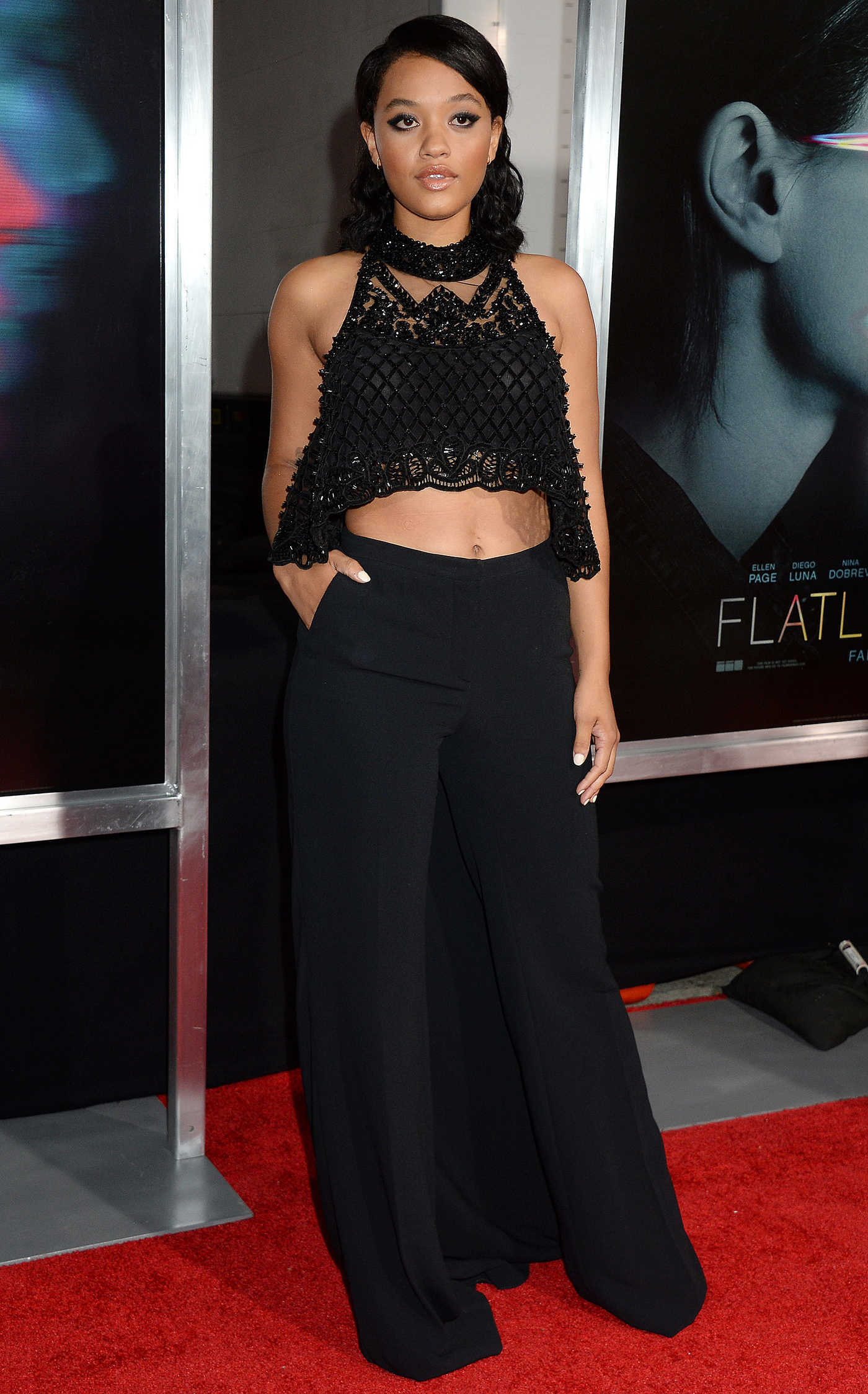 Kiersey Clemons at the Flatliners Premiere in Los Angeles 09/27/2017