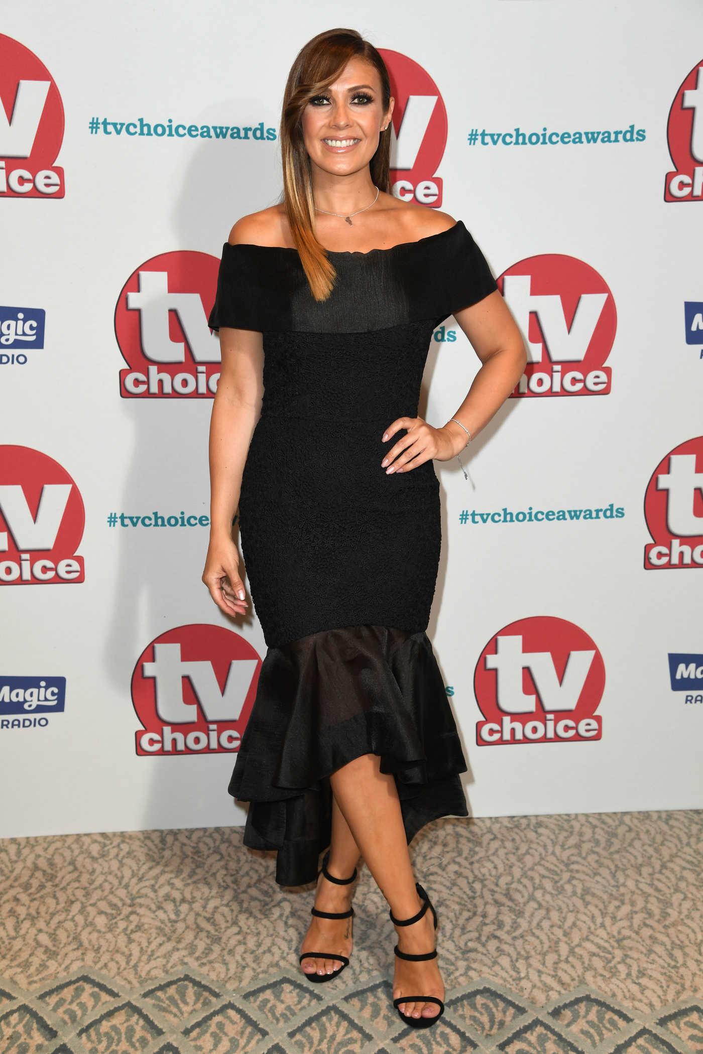 Kym Marsh at TV Choice Awards at The Dorchester in London 09/04/2017